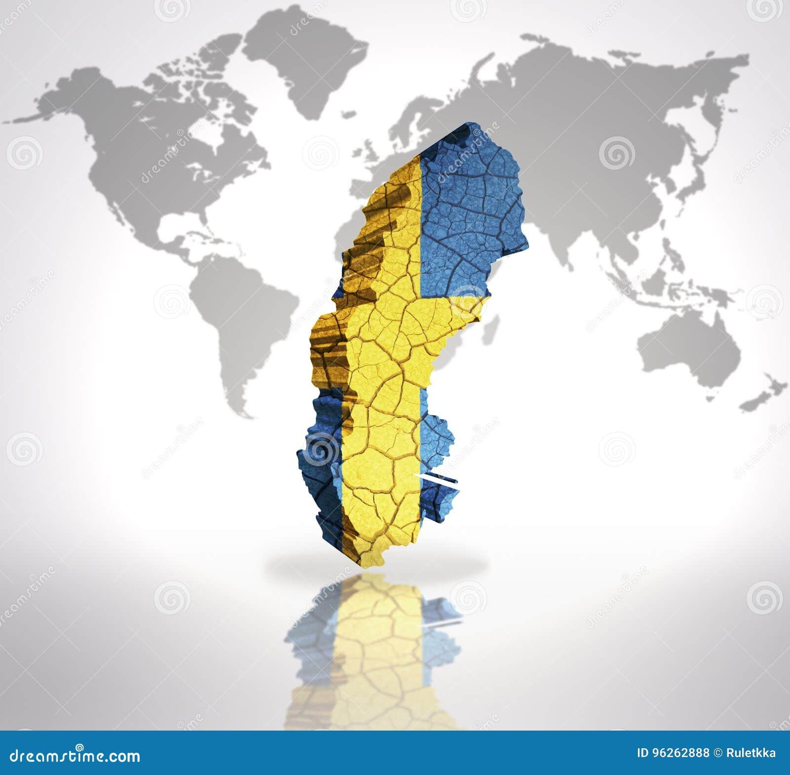 Map of Sweden stock illustration. Illustration of scandinavian ...