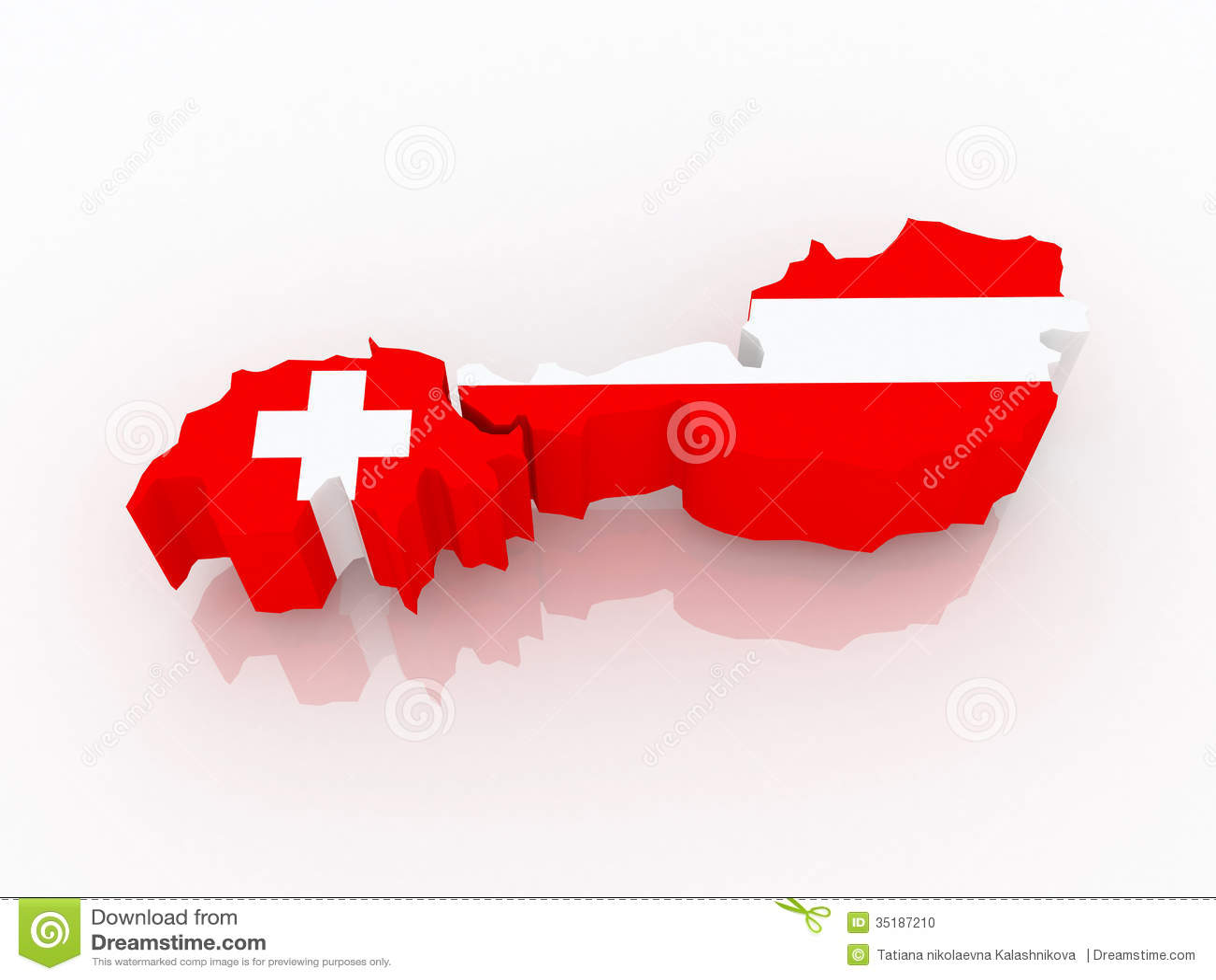 Map Of Switzerland And Austria. Stock Illustration - Illustration of ...