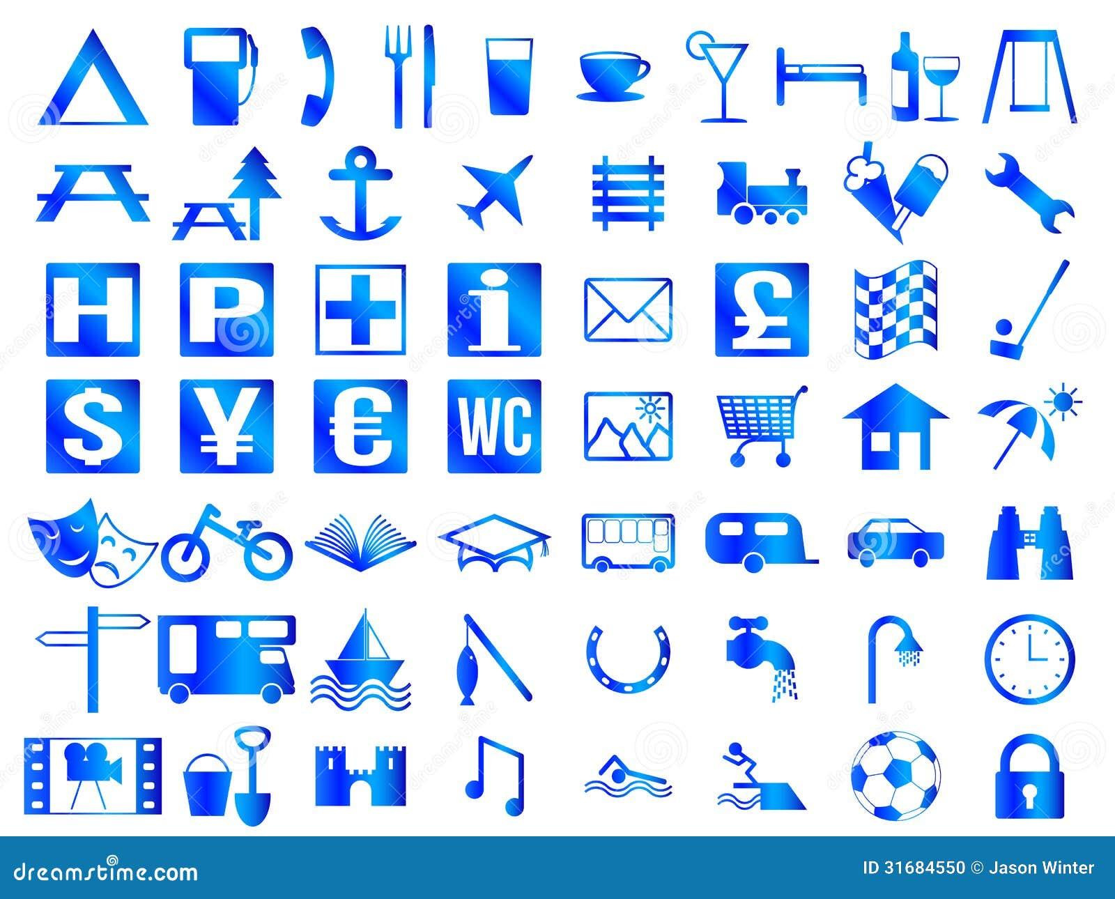 Map Symbols stock vector. Illustration of caravanning ...