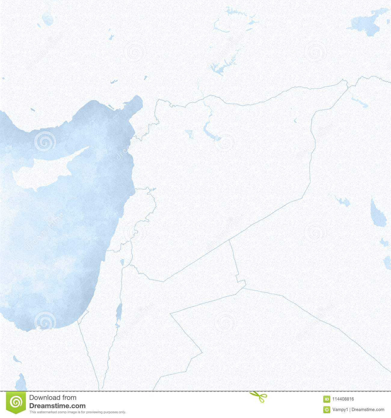 Map Of Syria And Borders Physical Map Middle East Arabian