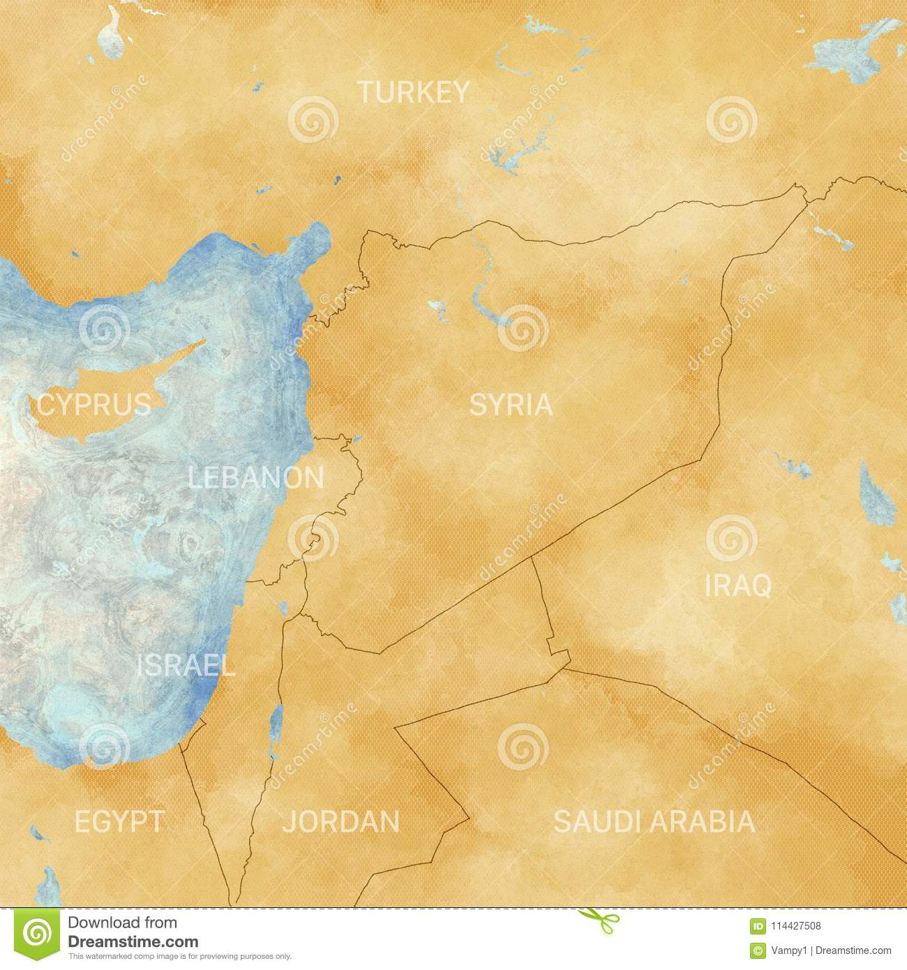 Map Of Syria And Borders, Physical Map Middle East, Arabian