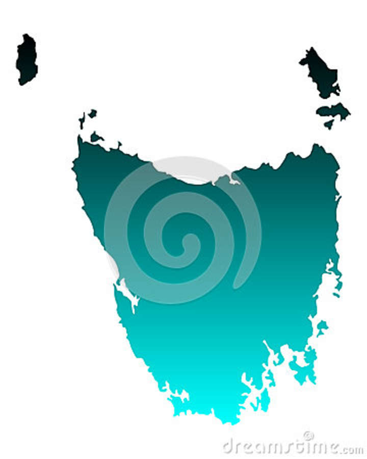 clipart map of tasmania - photo #15