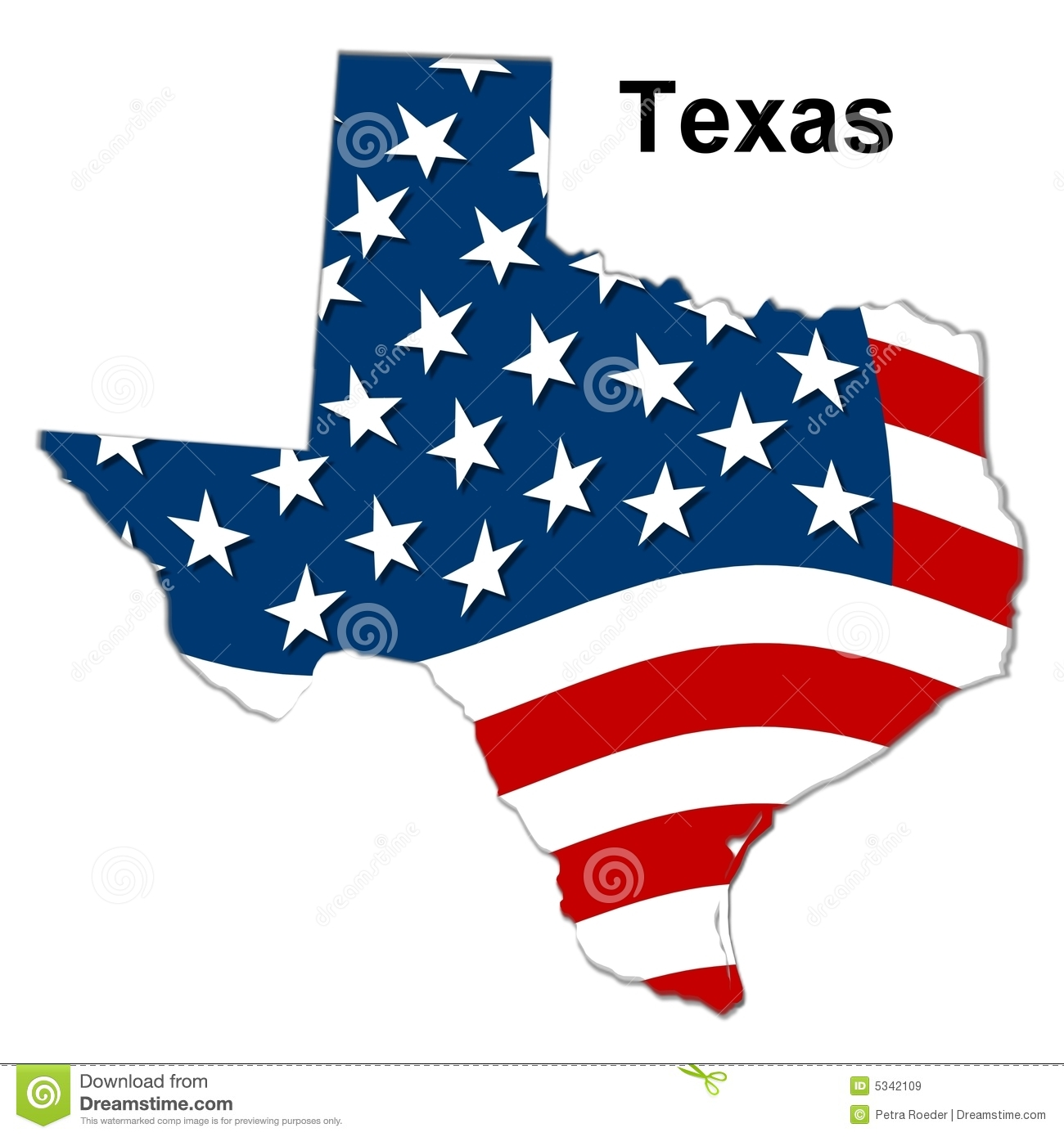 Map Of Texas Royalty Free Stock Images - Image: 5342109