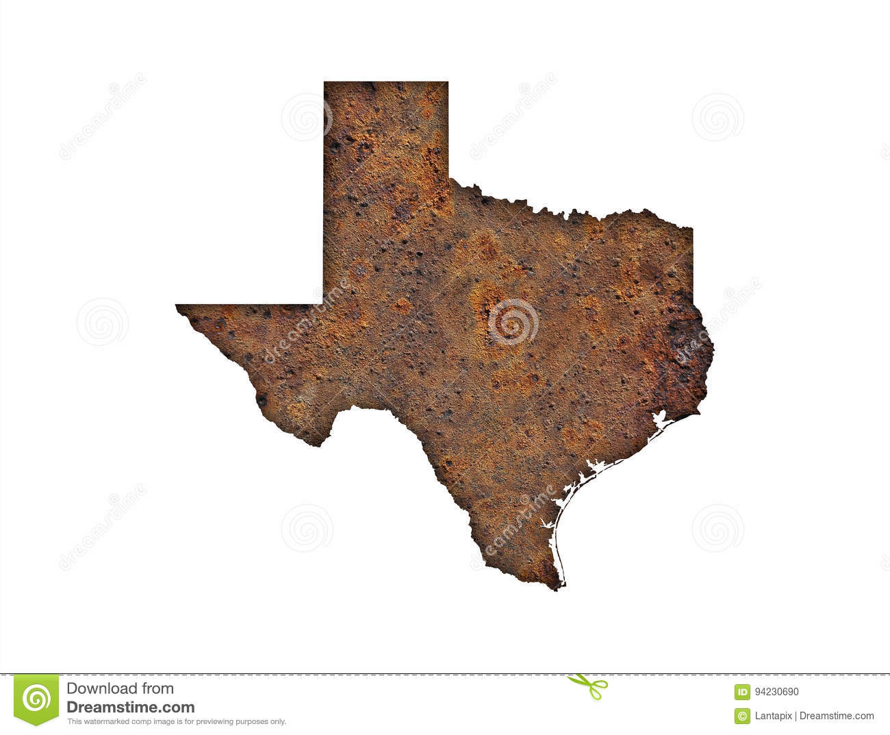 Map Of Texas On Rusty Metal Stock Photo - Image of rusted, country ...
