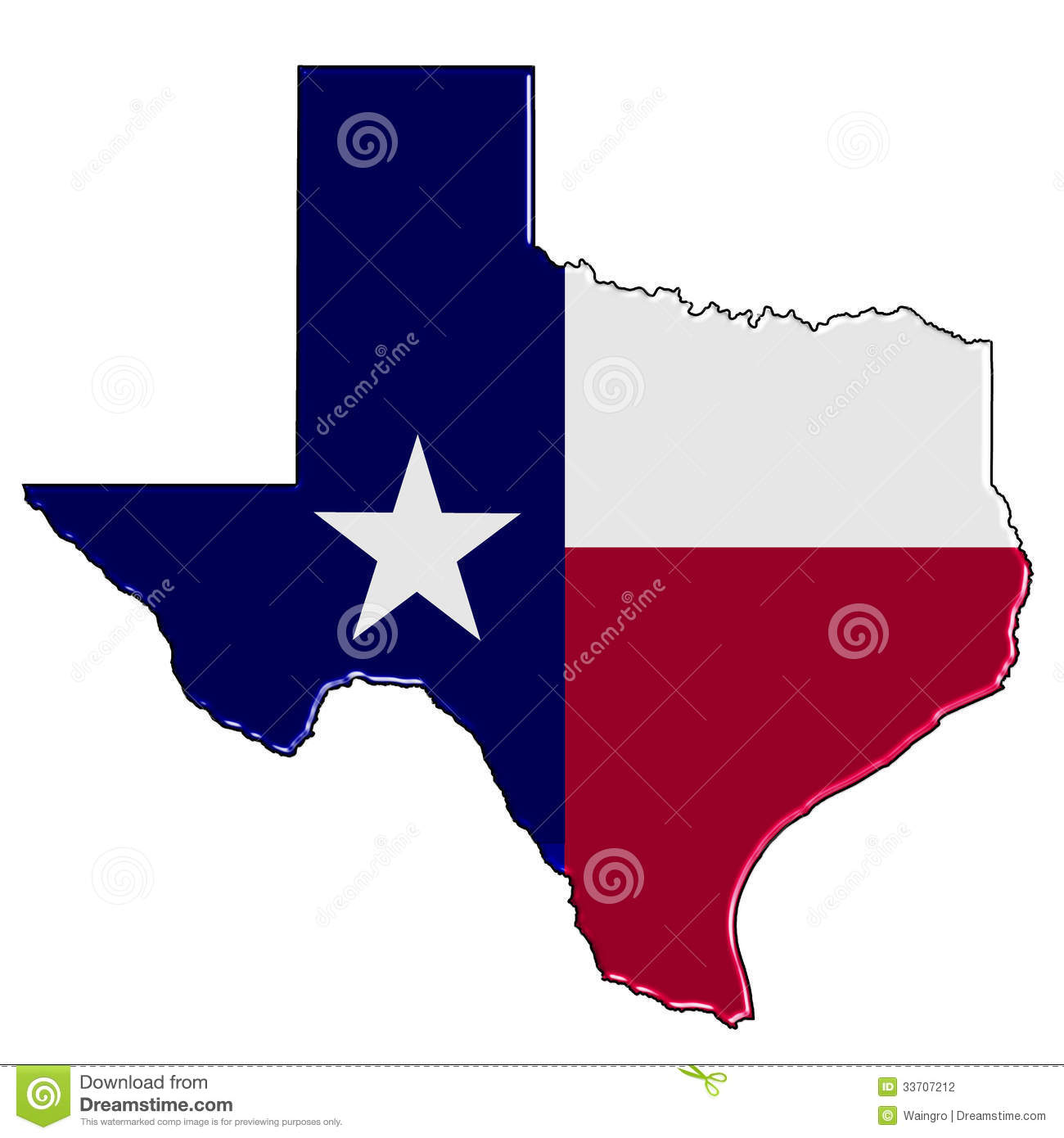 Map of Texas stock illustration  Illustration of state - 33707212