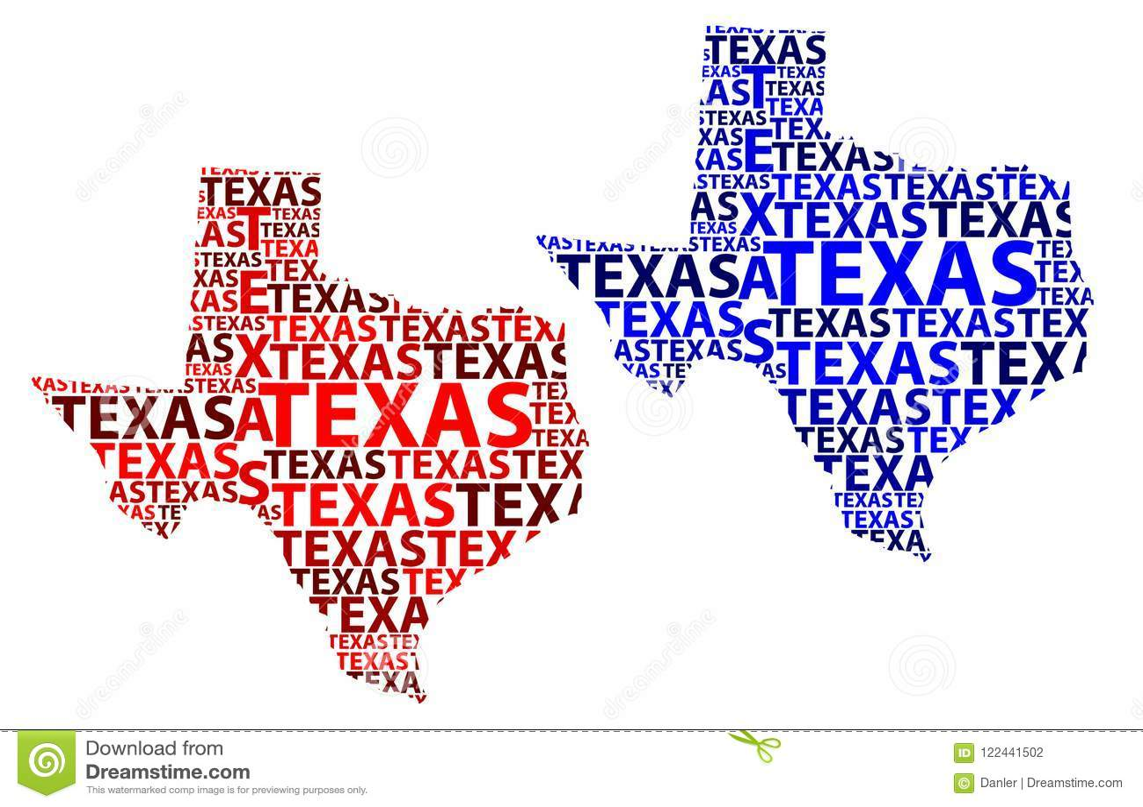 Map Of Texas Vector Illustration Stock Vector Illustration Of