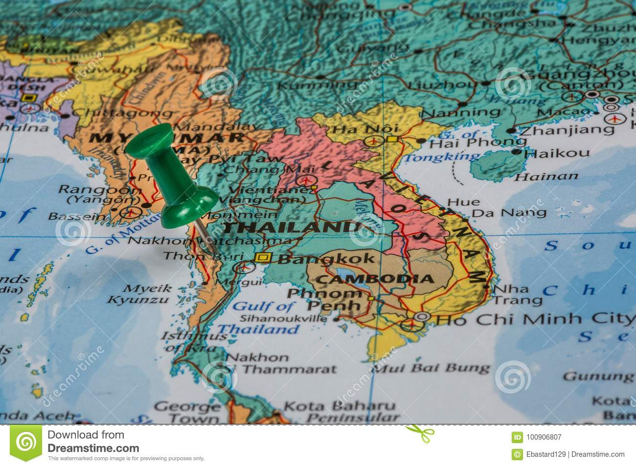 Map of thailand stock image image of asia pattern 100906807 download comp gumiabroncs Gallery