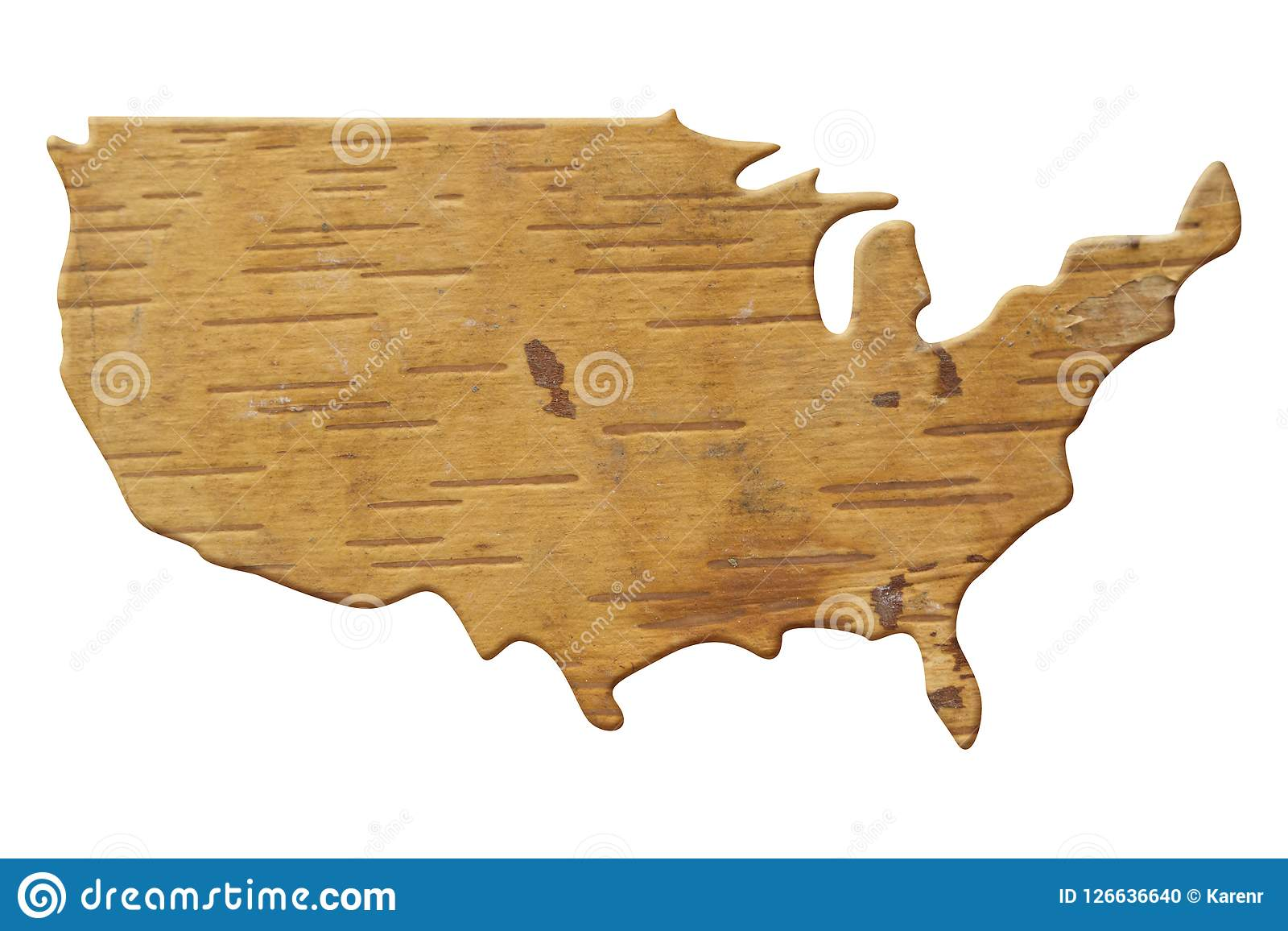 Map Of Country Usa.Map To The Country Usa In Wood Stock Photo Image Of States