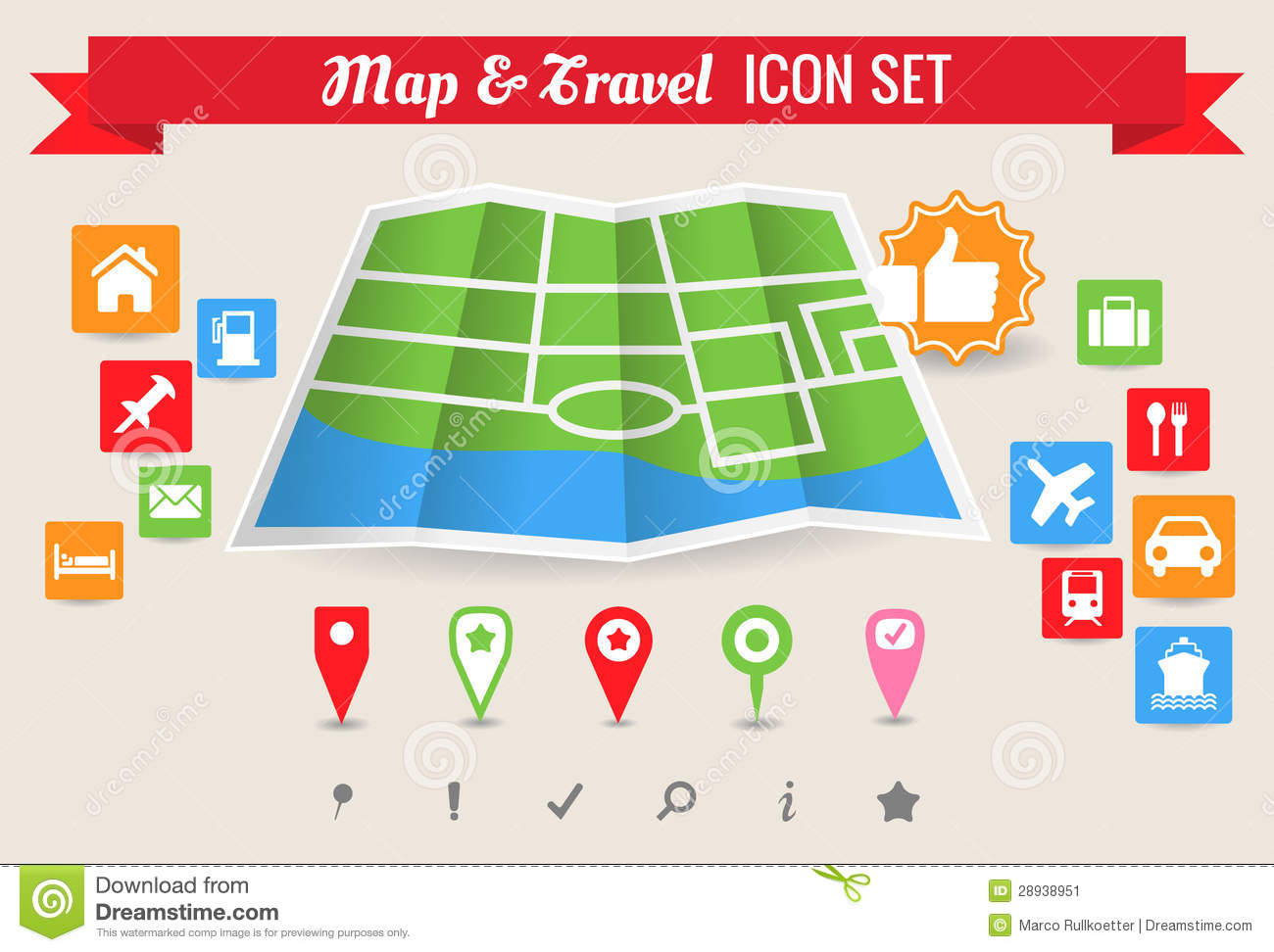 Map travel icon set stock vector illustration of tour 28938951 gumiabroncs Images