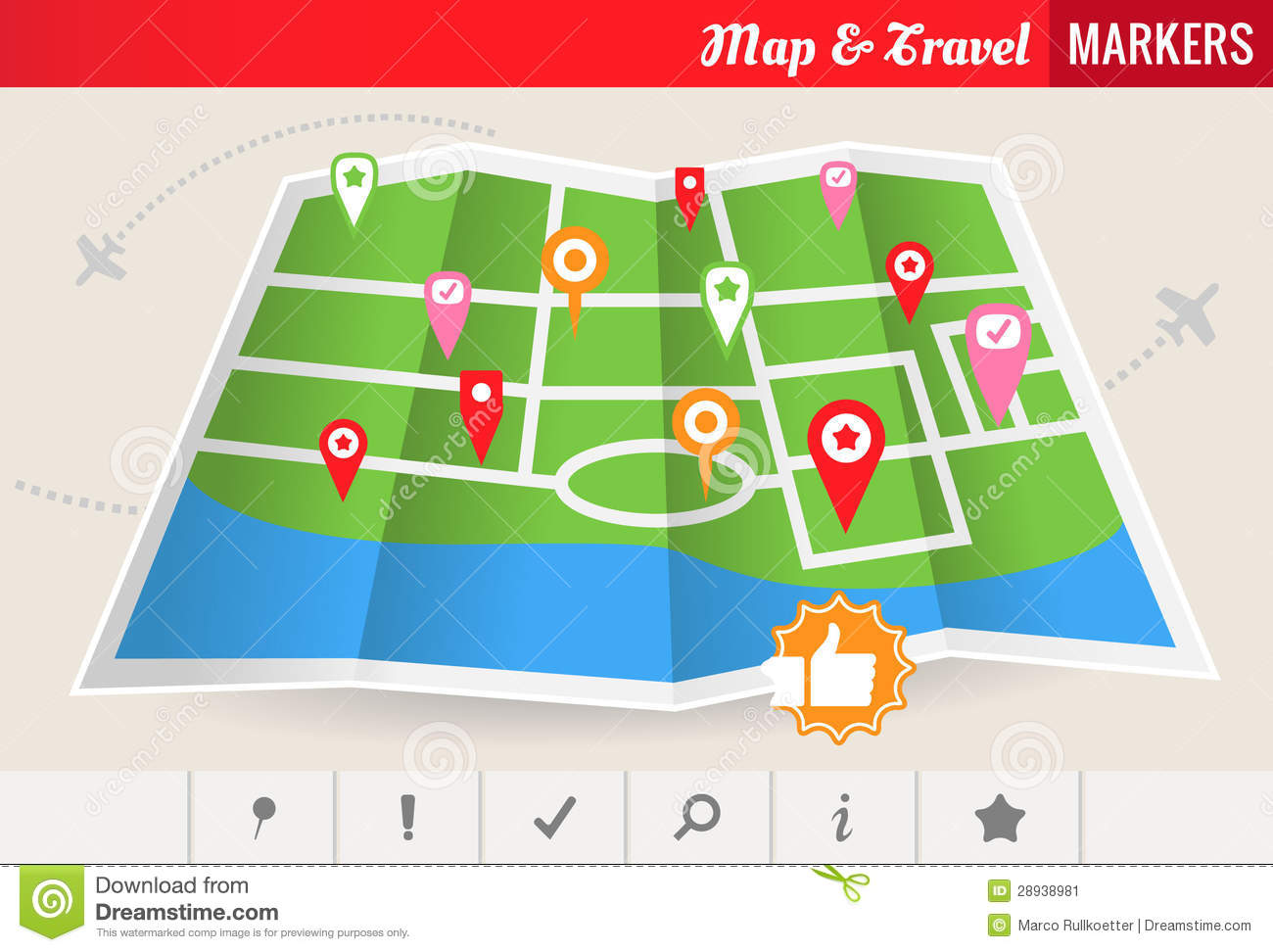 Map and Travel Markers Vector Set Image Image 28938981 – Travel Map Marker