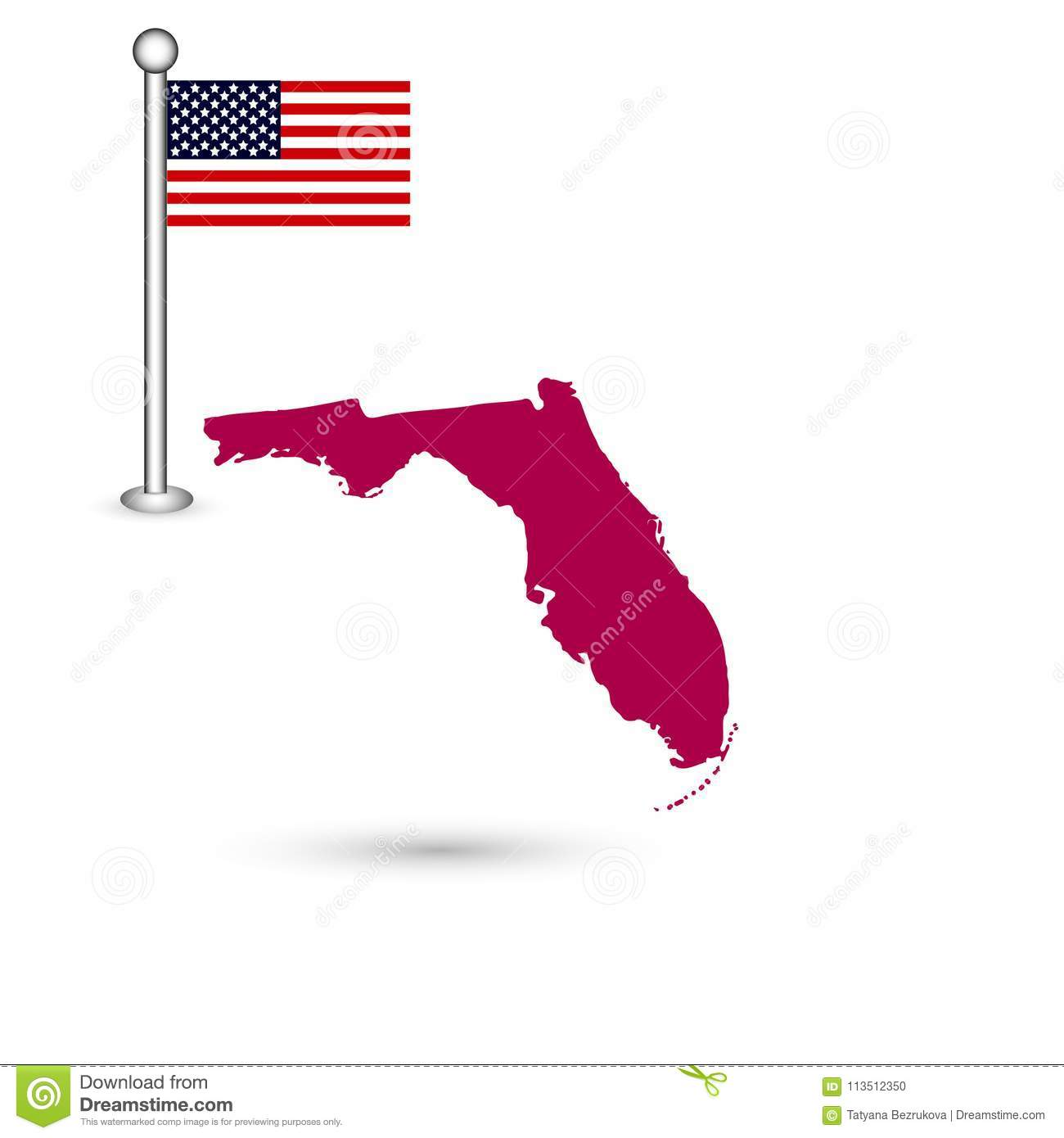 Map Of The U.S. State Of Florida On A White Background ... Shape Of Florida On Map on maps of delaware shape, florida state shape, map of connecticut shape, map of kentucky shape, map of washington dc shape,