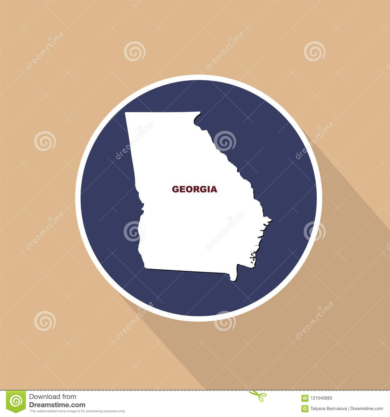 Map Of The U.S. State Of Georgia On A Blue Background. State ... Georgia On The Us Map on georgia on middle east map, georgia on europe map, georgia on asia map, georgia state map, usa map, georgia on africa map, georgia's landmarks and points on map, georgia-florida tennessee california texas map, georgia usa, georgia on russia map, georgia on florida map, georgia and texas on a map,