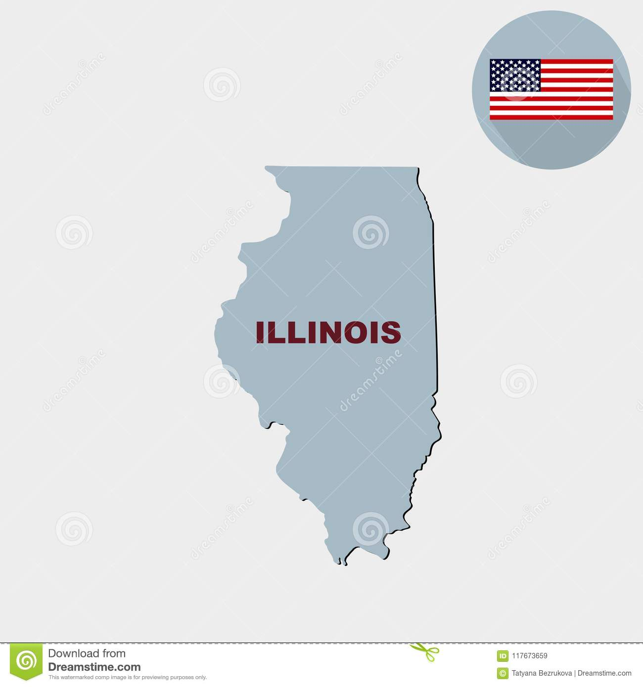 S In Illinois Map on