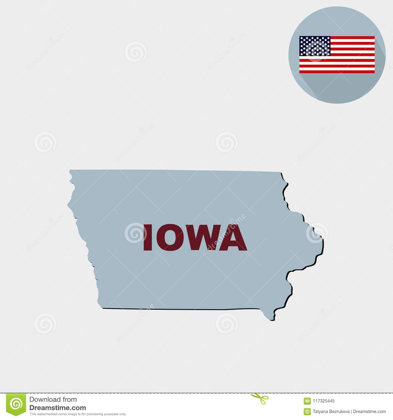 S In Iowa Map on