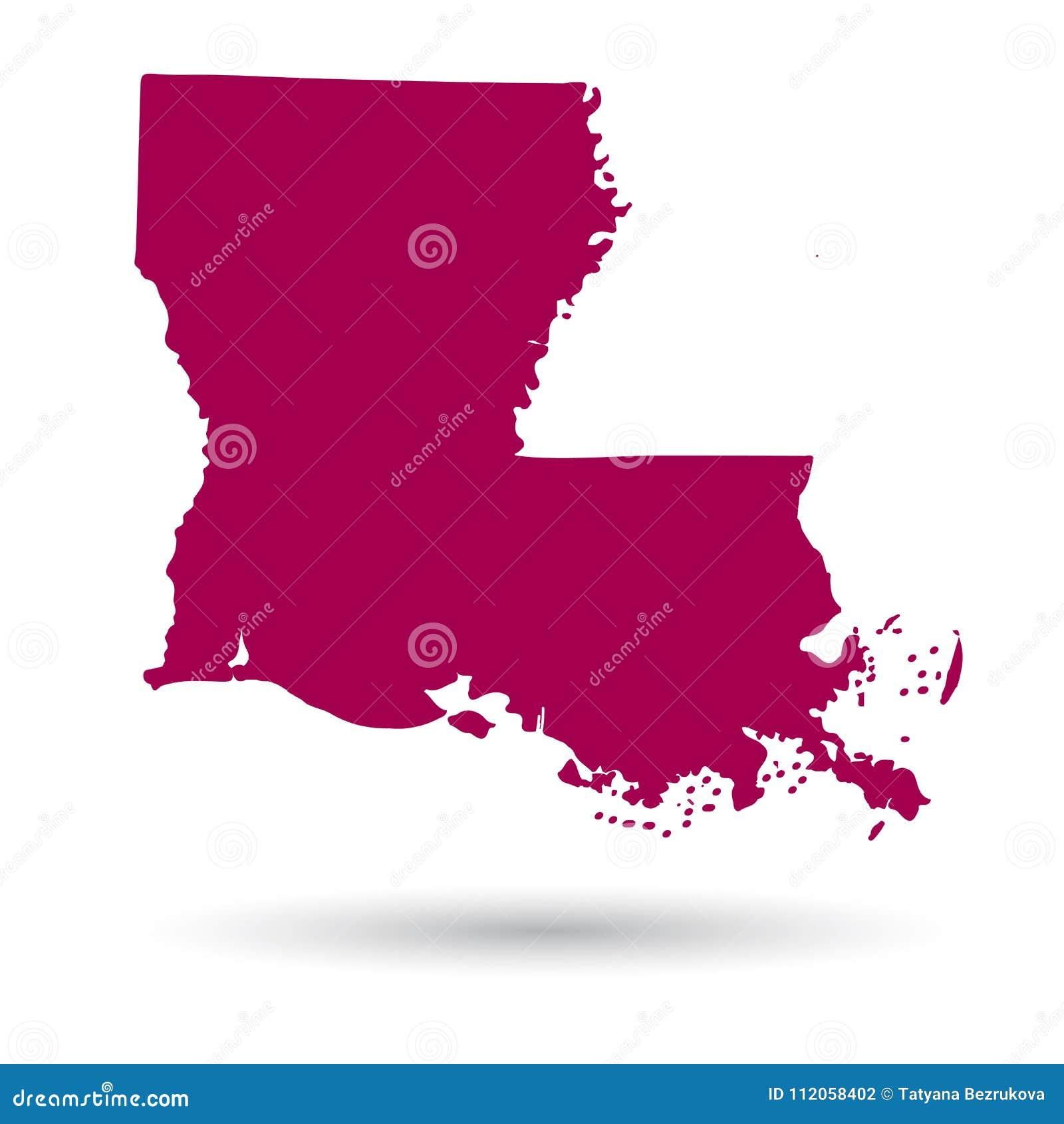 S In Louisiana Map on