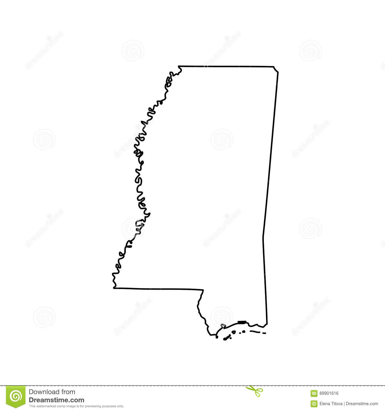 Map Of The U.S. State Of Mississippi Stock Vector ... S In Mississippi Map on louisiana's map, maryland's map, kentucky's map, maine's map, oklahoma's map, mississippi regions map, ms road map, georgia's map, michigan's map, indiana's map, missouri's map, new mexico's map, mississippi county map, mississippi state map, new jersey's map,