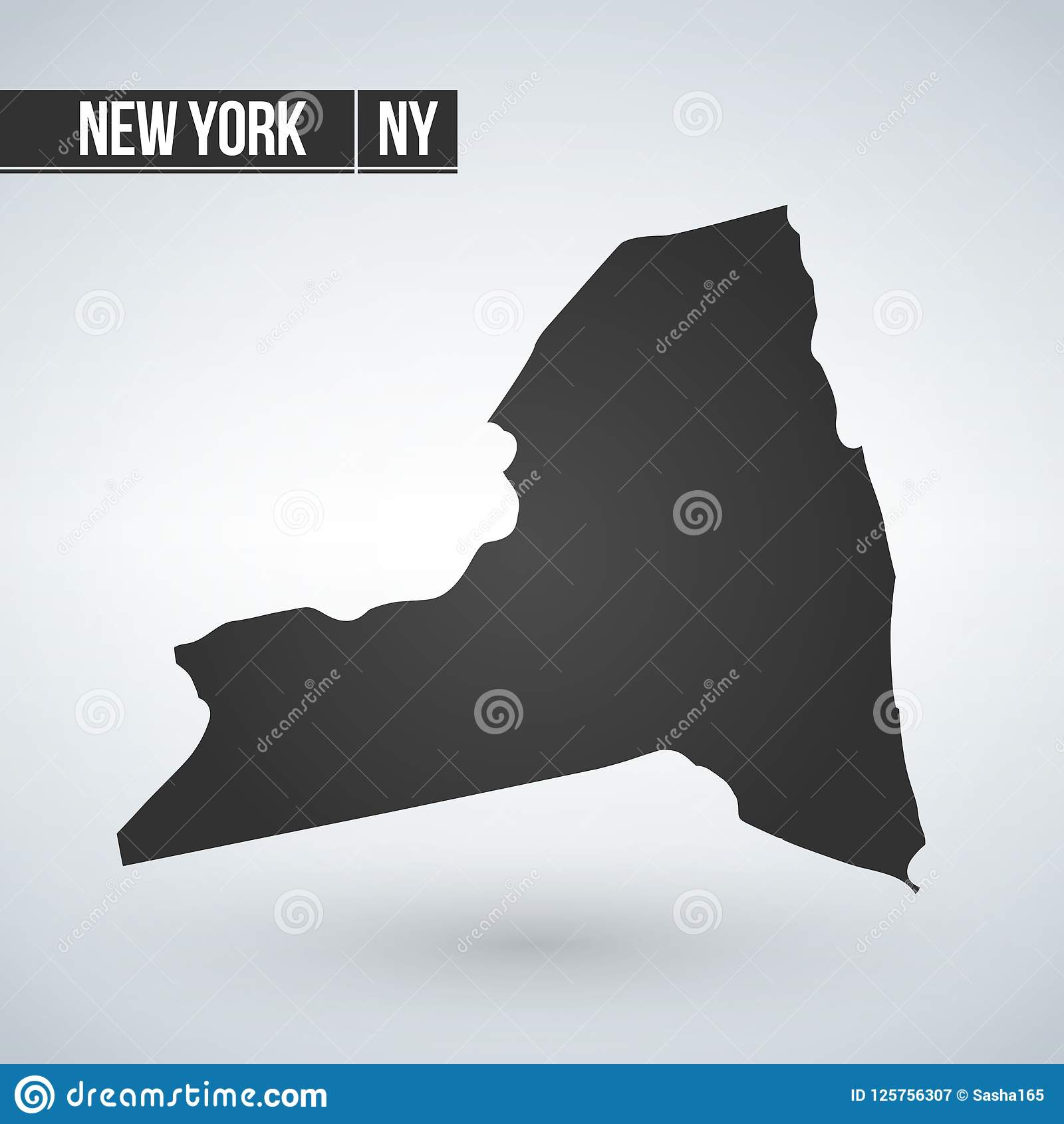 Map Of The U.S. State Of New York, Vector Illustration Stock ...