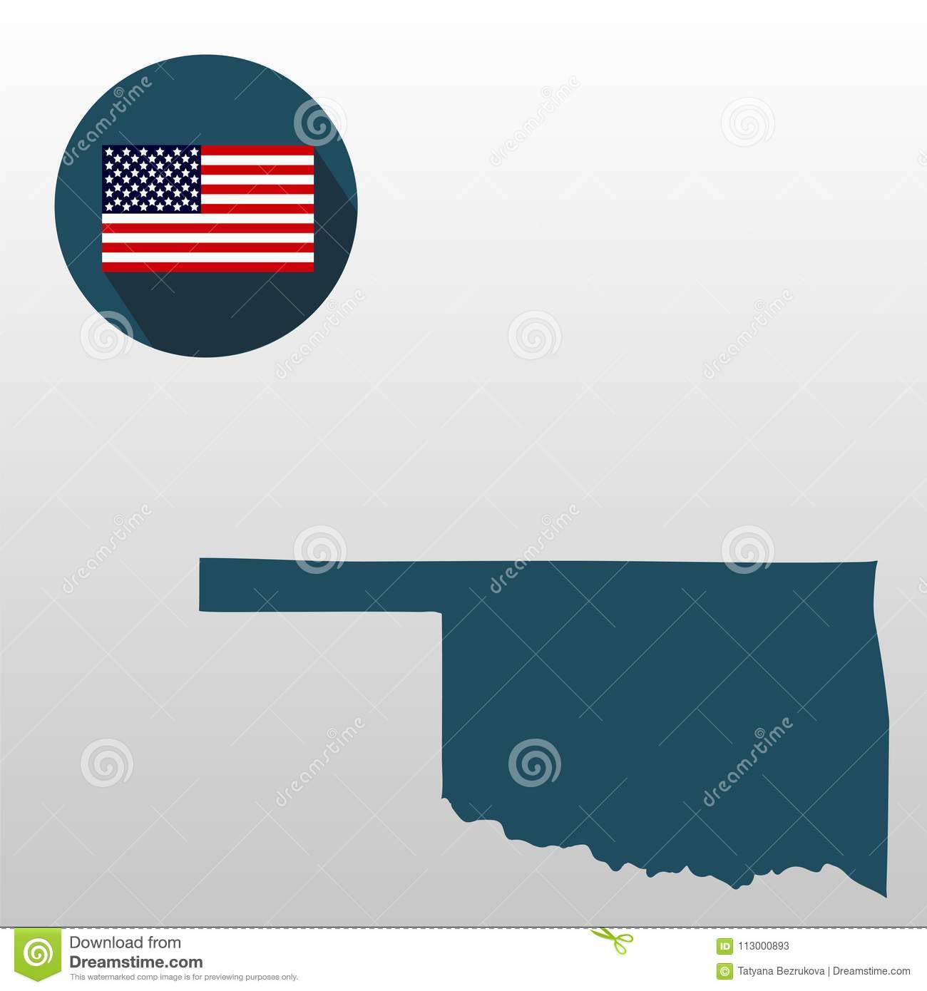 Freedom Oklahoma Map.Map Of The U S State Of Oklahoma On A White Background America