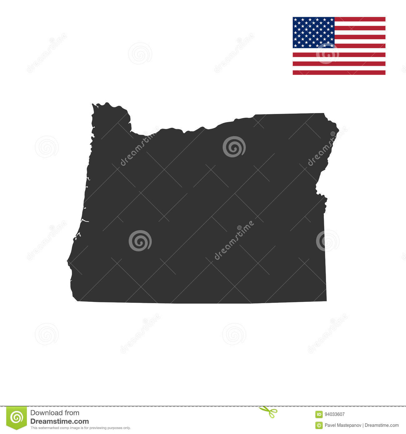 Map Of The U.S. State Of Oregon Stock Vector - Illustration of ... S In Oregon Map on