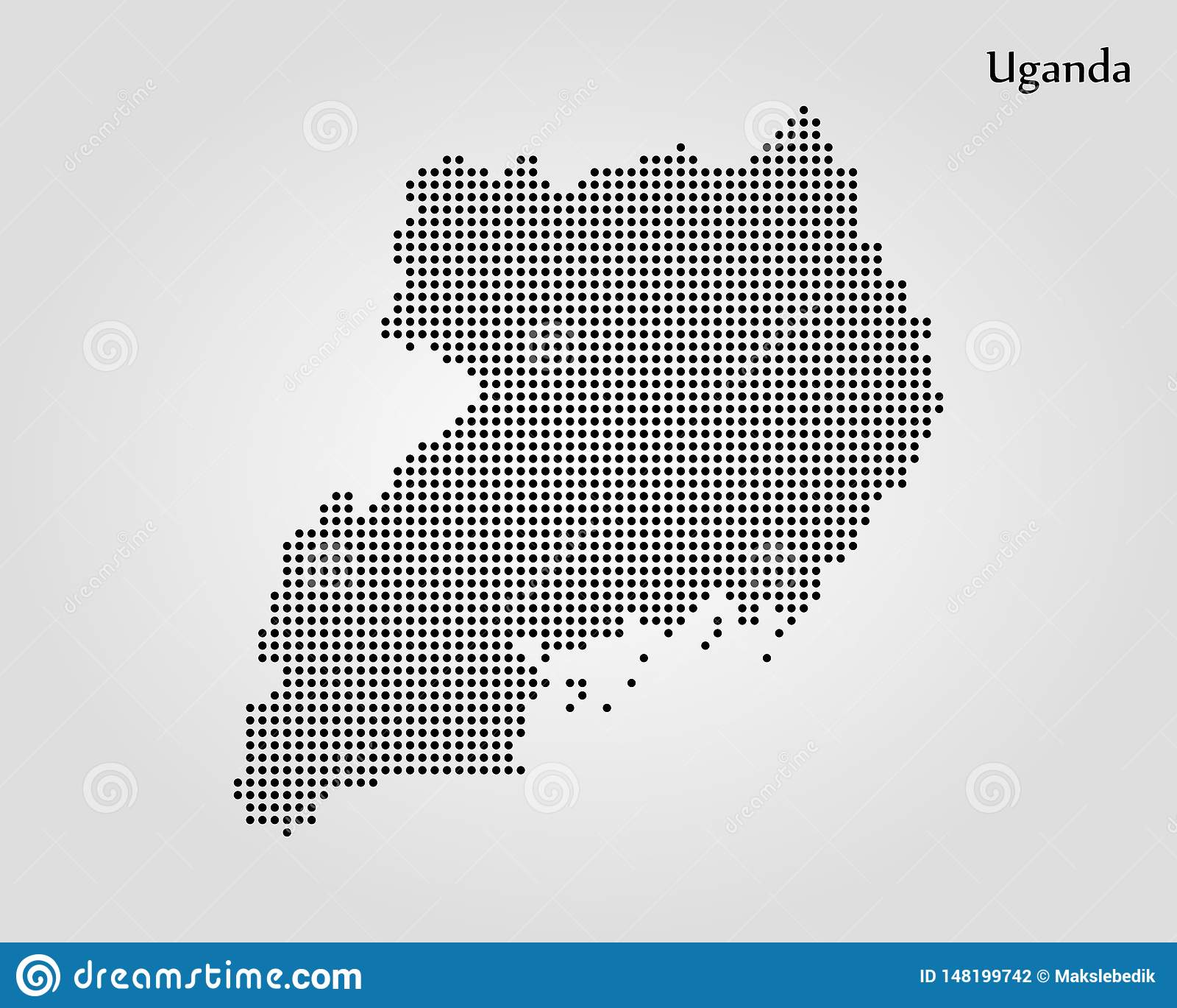 Map Of Uganda. Vector Illustration. World Map Stock ...