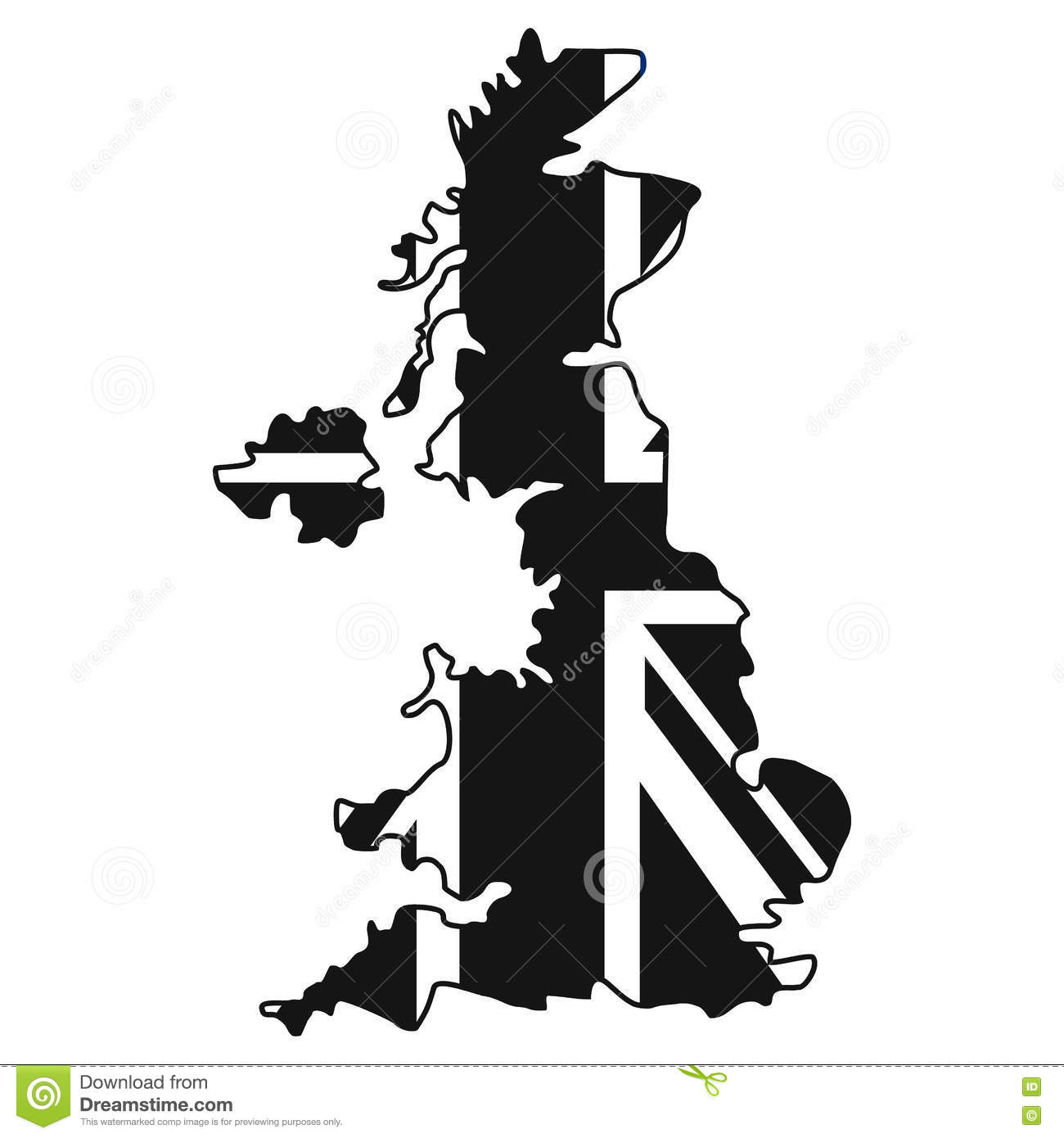 Vector Map Flag Of The UK Royalty Free Stock Photos - Image: 4213978