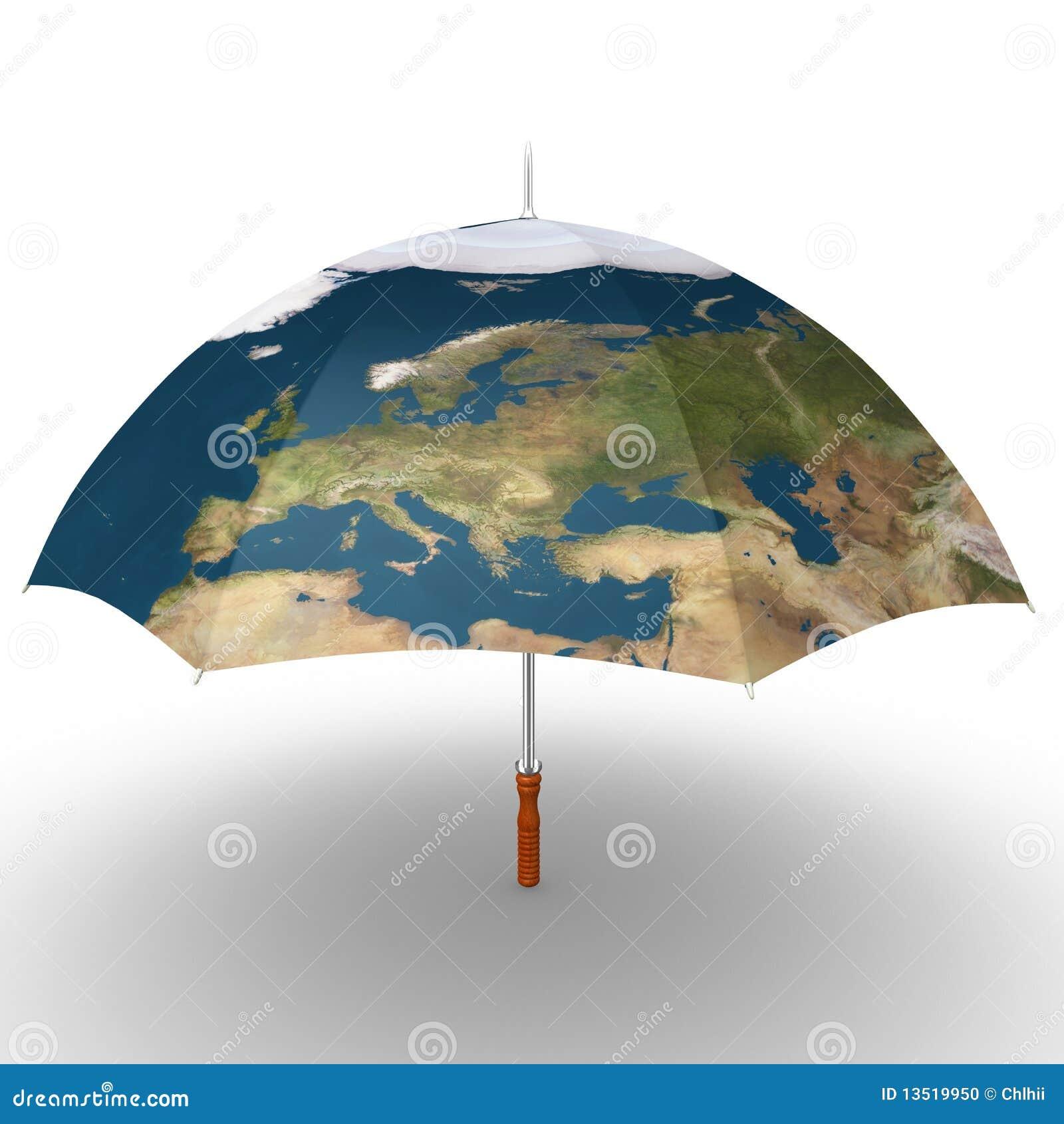 Map umbrella stock illustration illustration of insurance 13519950 download comp gumiabroncs Gallery