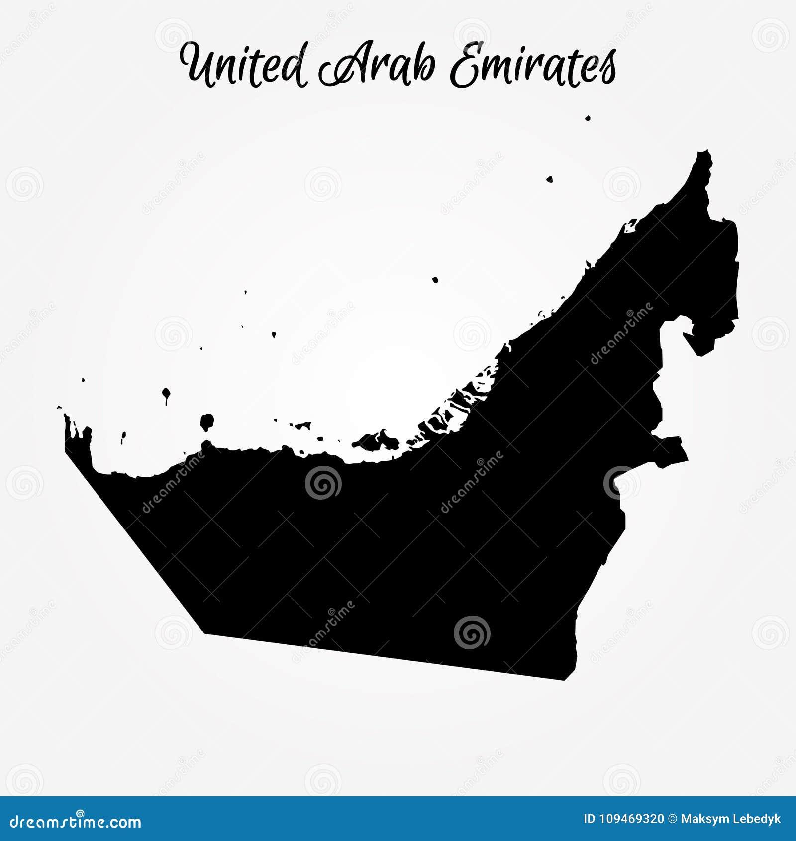Map Of United Arab Emirates Stock Illustration - Illustration of ...