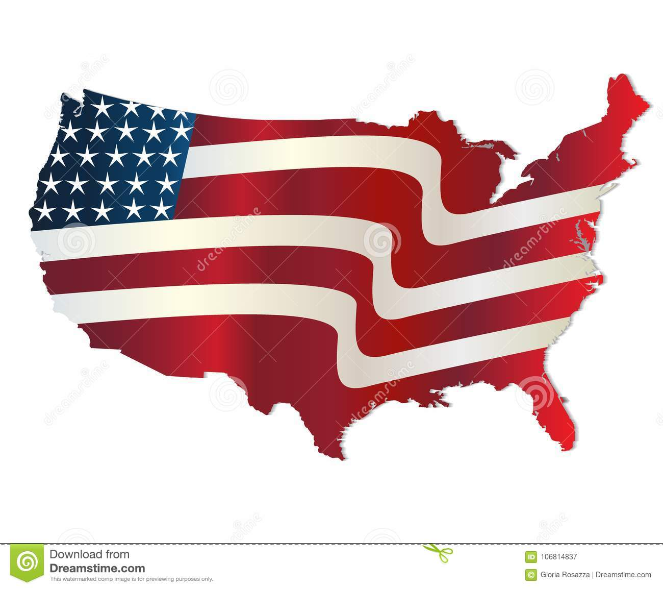 Map Of United States Of America Vivid Colors Logo Stock Vector - Us-map-logo