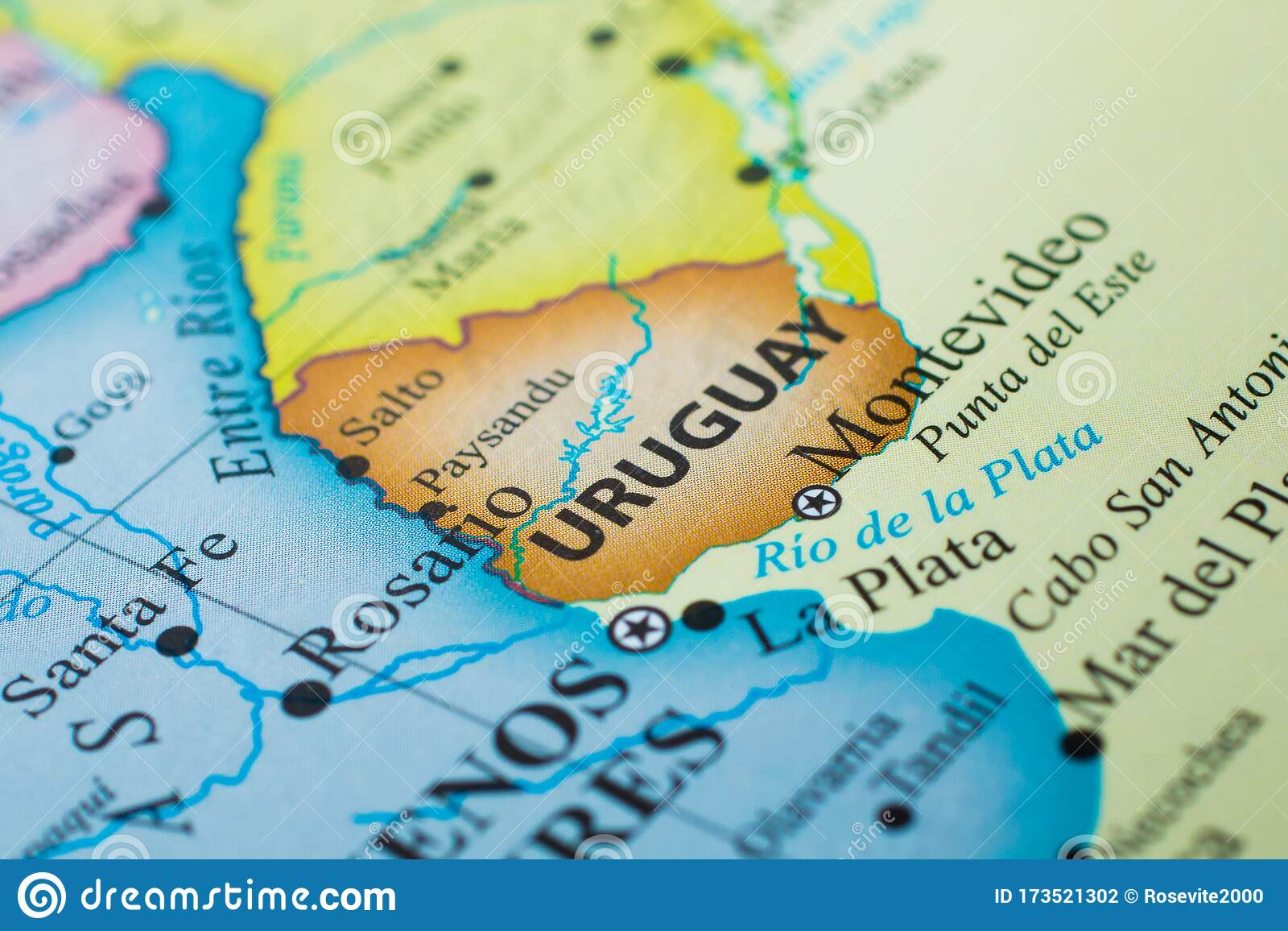 Image of: Map Of Uruguay Stock Photo Image Of Montevideo South 173521302