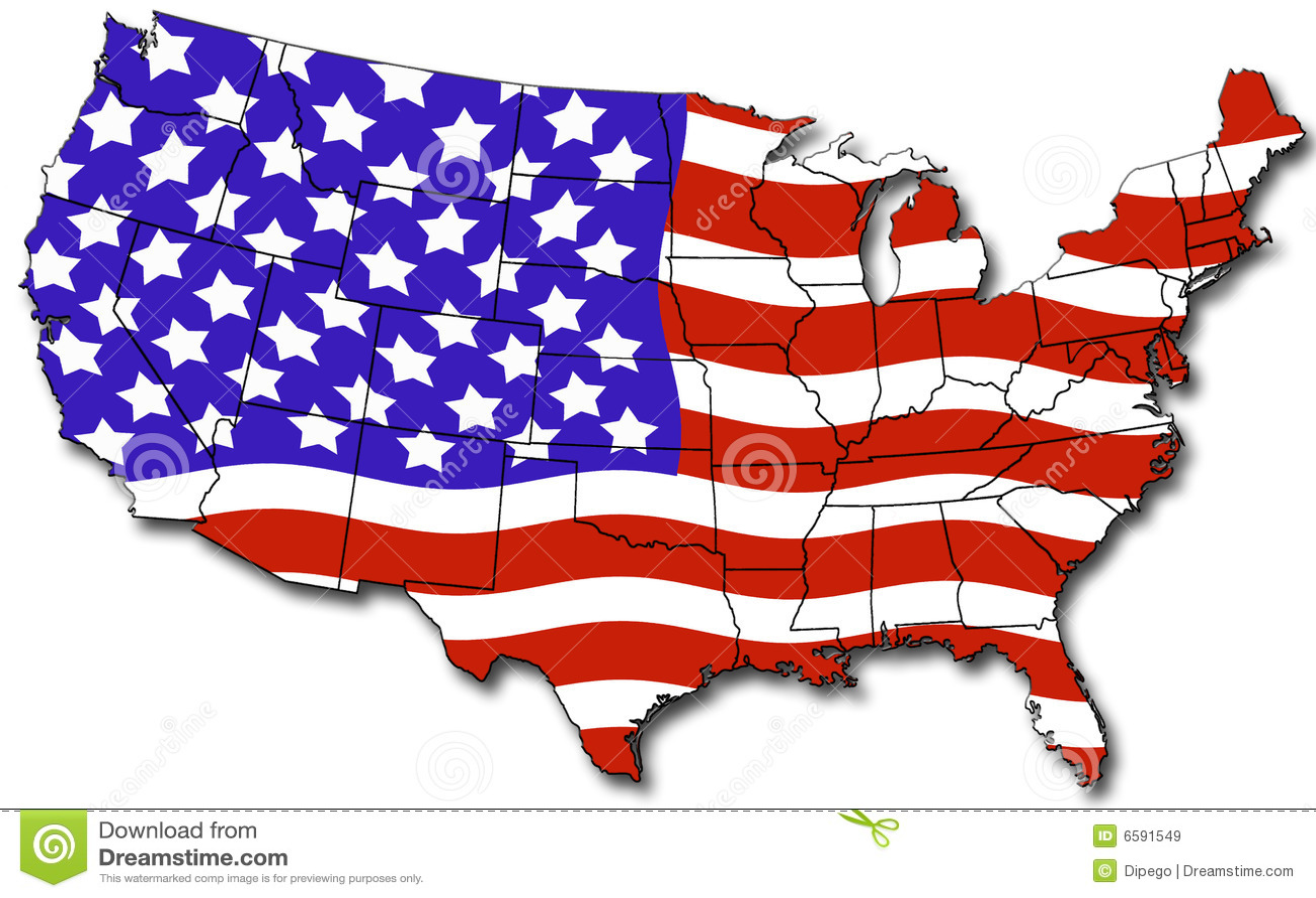 Map of USA stock illustration. Illustration of illustration ...