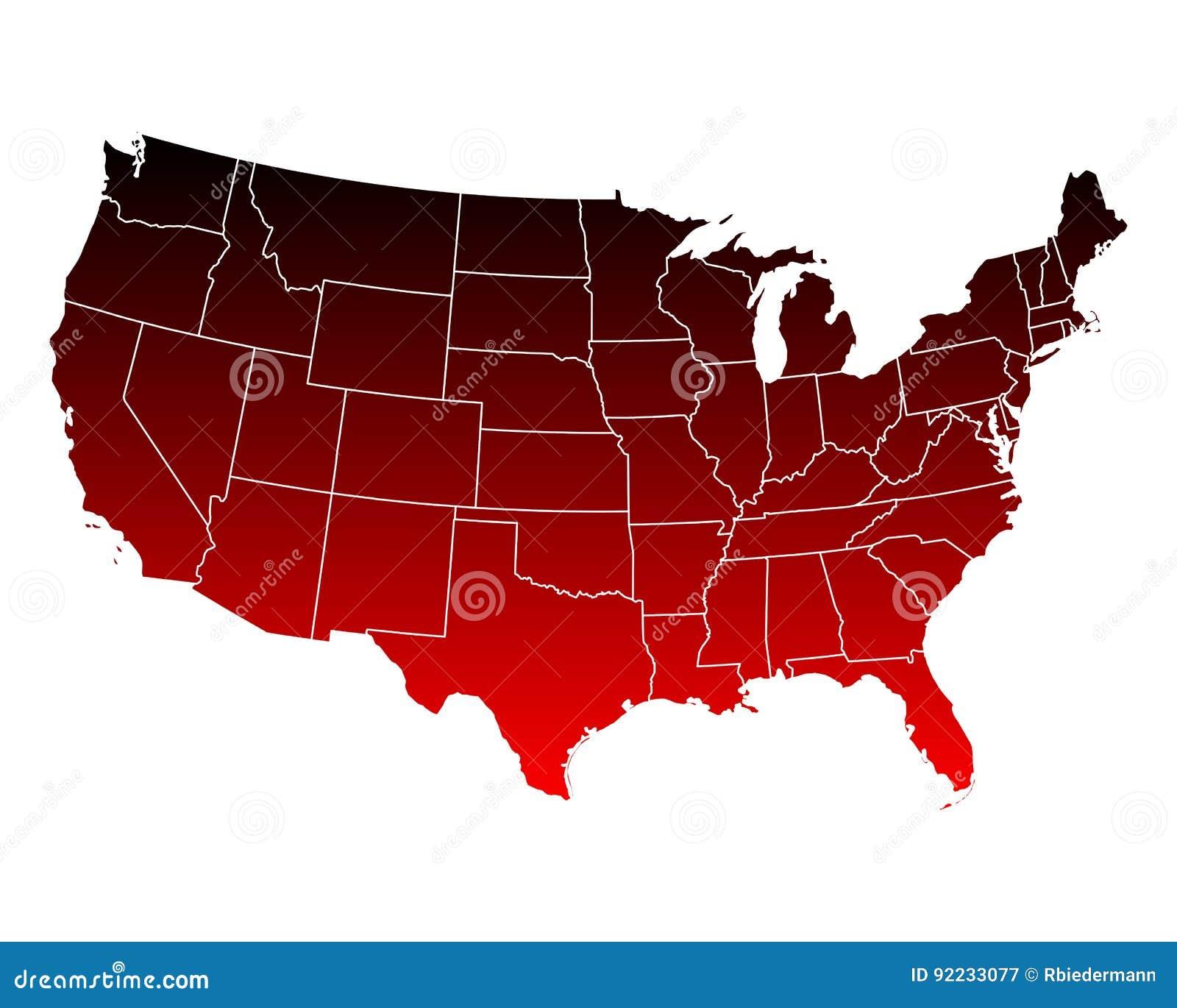 Map Of USA Stock Vector Image - Map usa vector