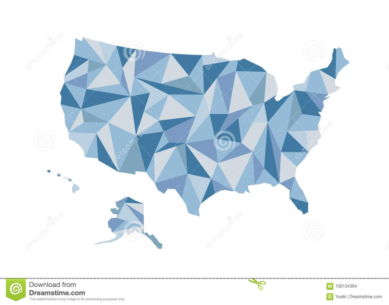 Map Of USA. Isolated Vector Illustration. United States Of America ...