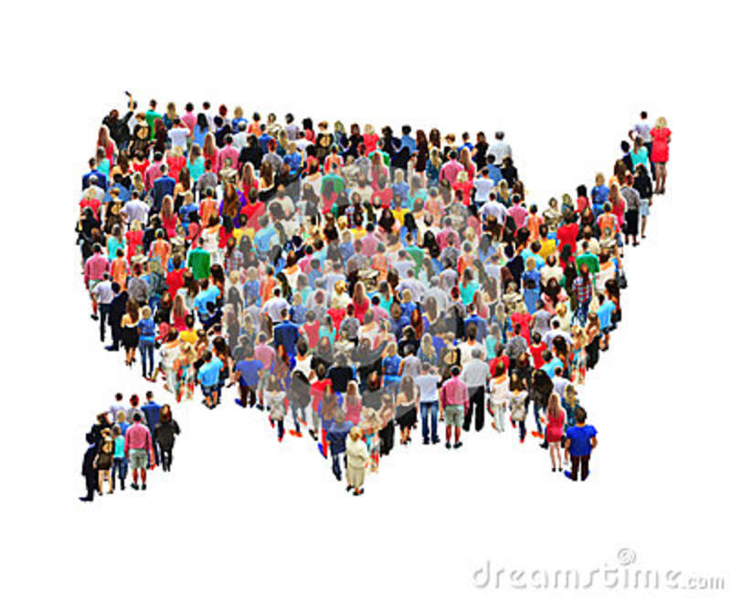 People Map Of The Us Map Of USA With People Isolated Editorial Stock Photo   Image of