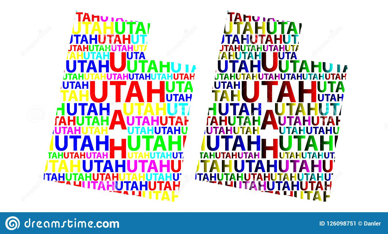 Map Of Utah Vector Illustration Stock Vector Illustration Of