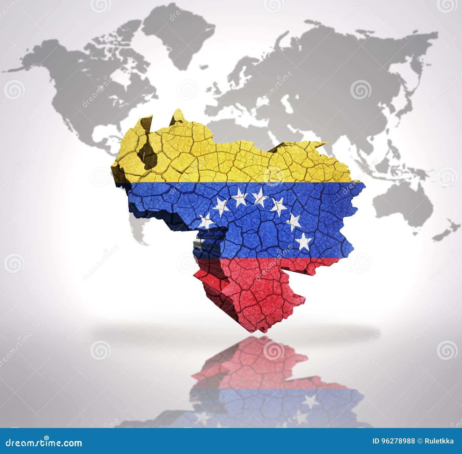 Map of Venezuela stock illustration. Illustration of country ...