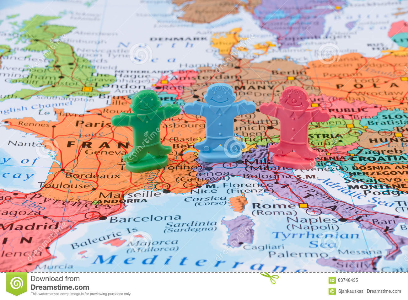 Map Of The Western Europe, European Union Stability Concept Stock ...