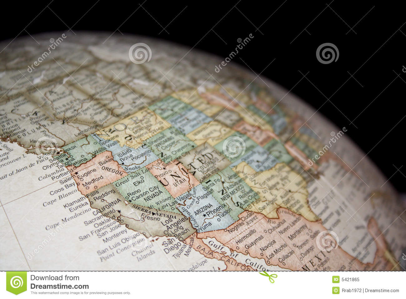 Globe Or Map Of United States Stock Image - Image of west, texas ...