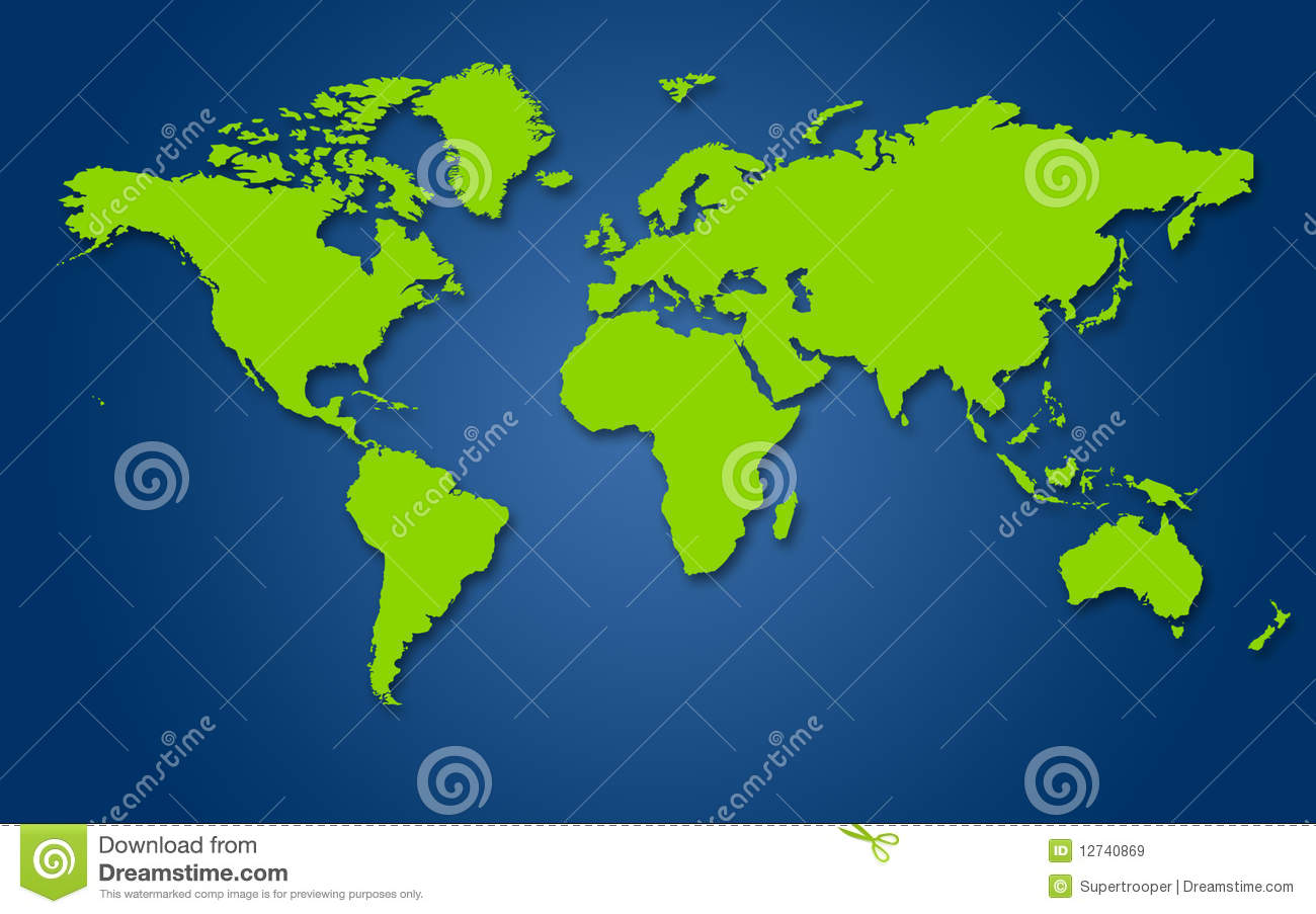 Map of the world. stock illustration. Illustration of geographic ...