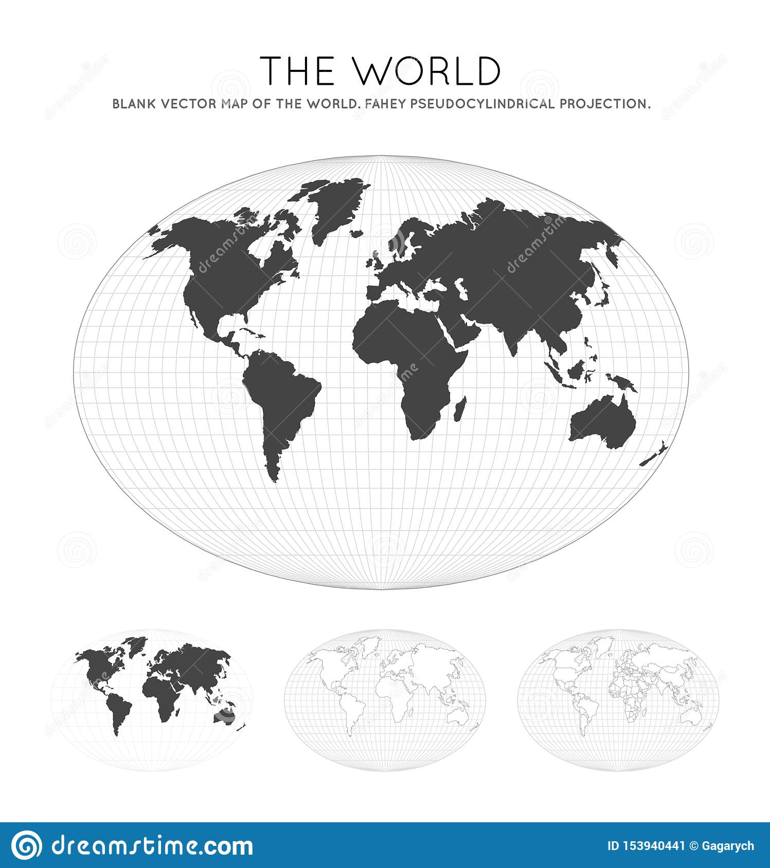 Map of The World. stock vector. Illustration of latitude ...