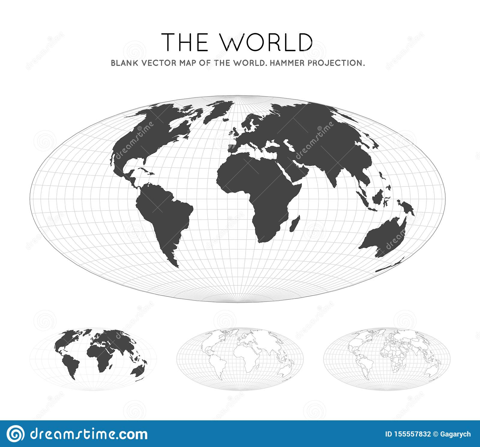 Picture of: Map Of The World Stock Vector Illustration Of Longitude 155557832