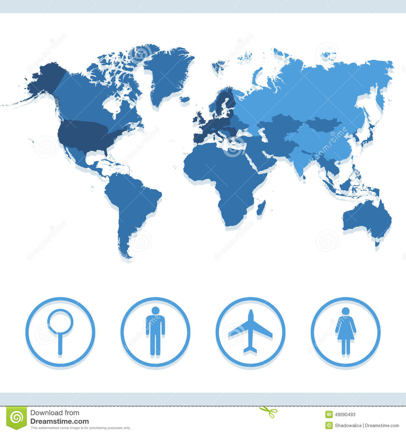 database diagram icon world map icons set great for any use. vector eps10 ... world diagram icon
