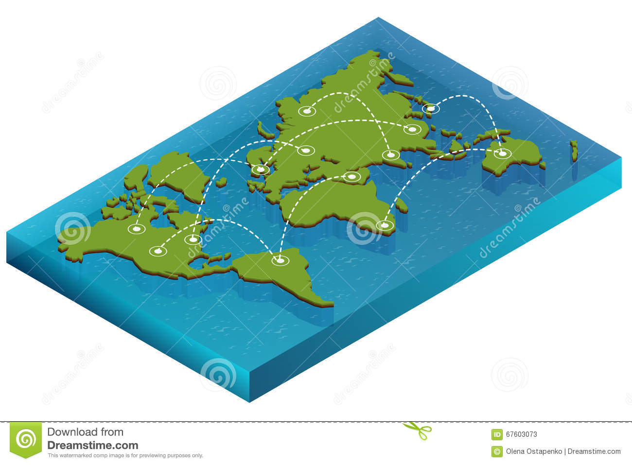 Map world isometric concept 3d flat illustration of map world download map world isometric concept 3d flat illustration of map world vector world map gumiabroncs Images