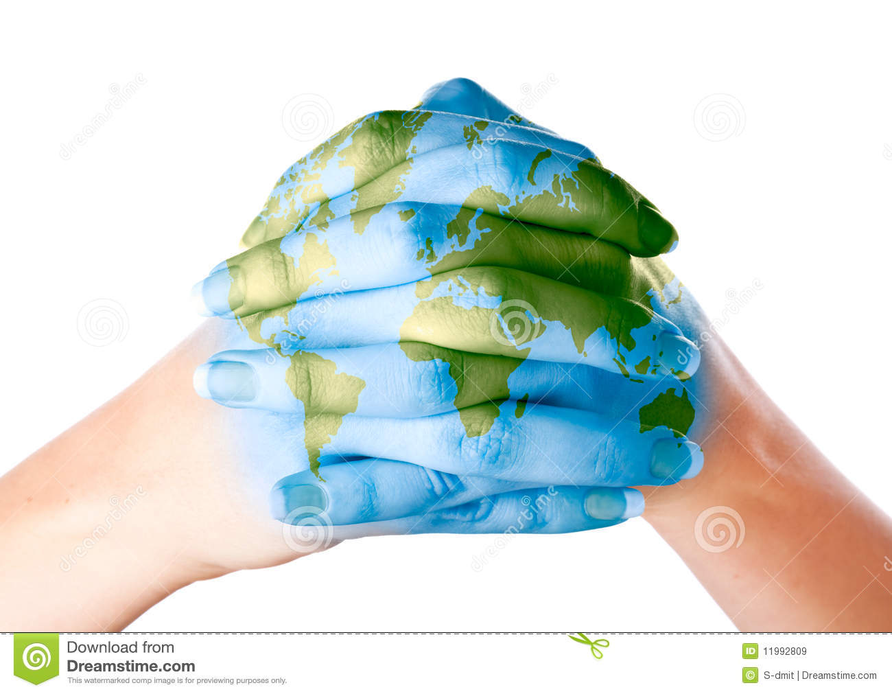 Map of world painted on hands stock image image of background map of world painted on hands gumiabroncs Images