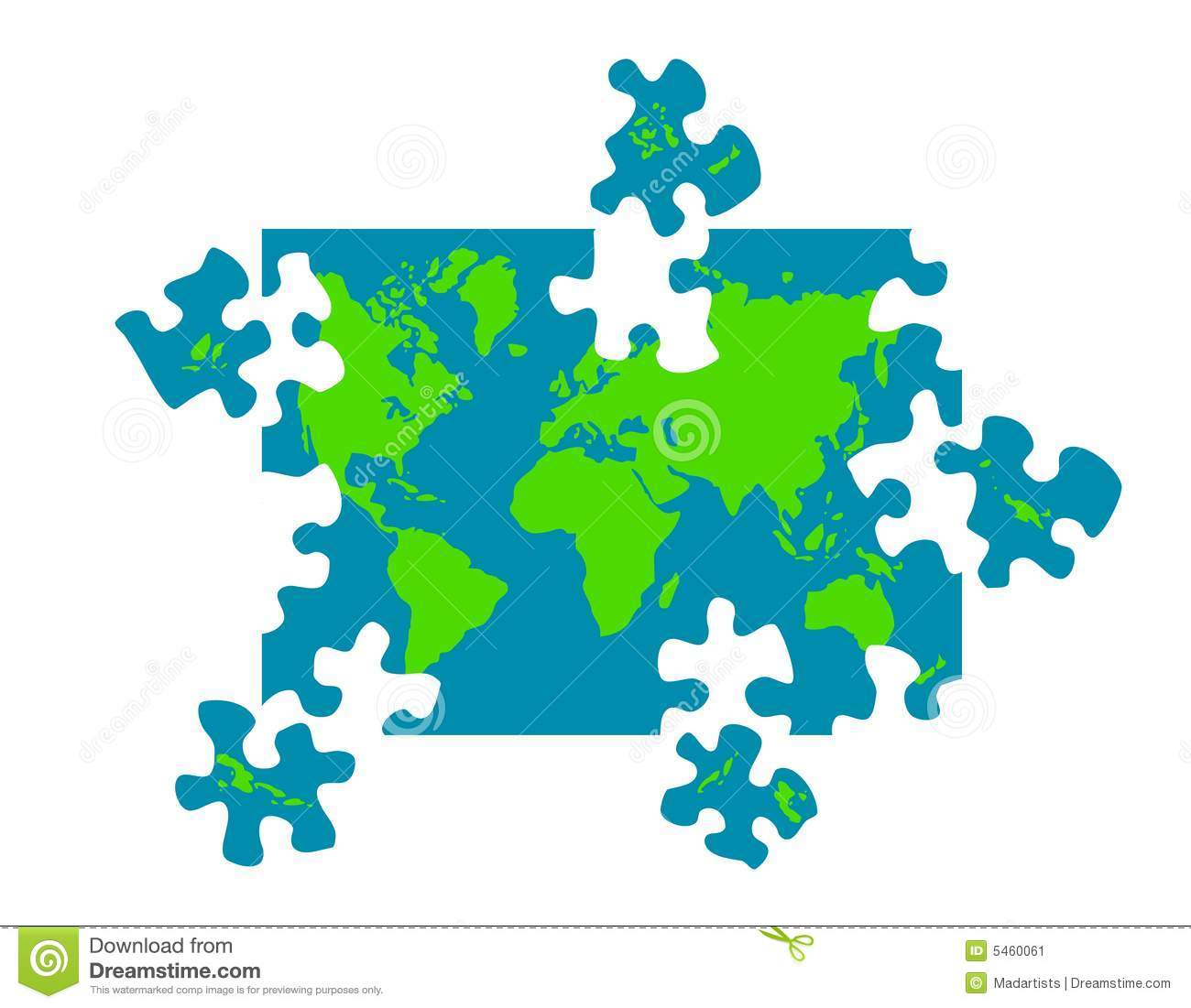 Puzzle Map Of The World Photo Image 22846970 – Map World Puzzle
