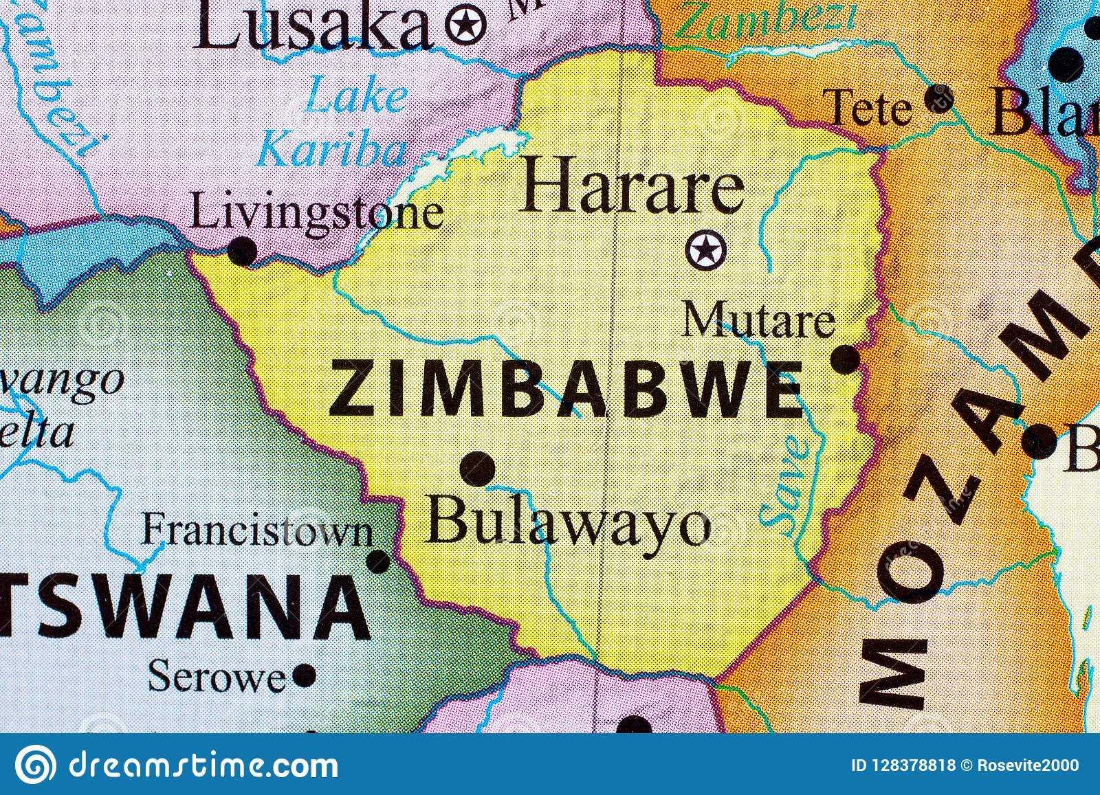 Map of Zimbabwe stock photo. Image of country, connect - 128378818