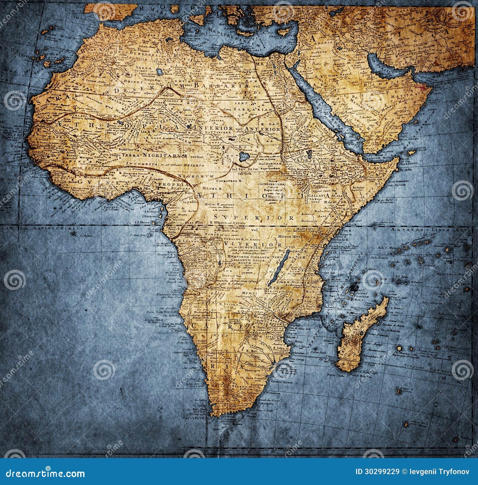 Mapa África del vintage