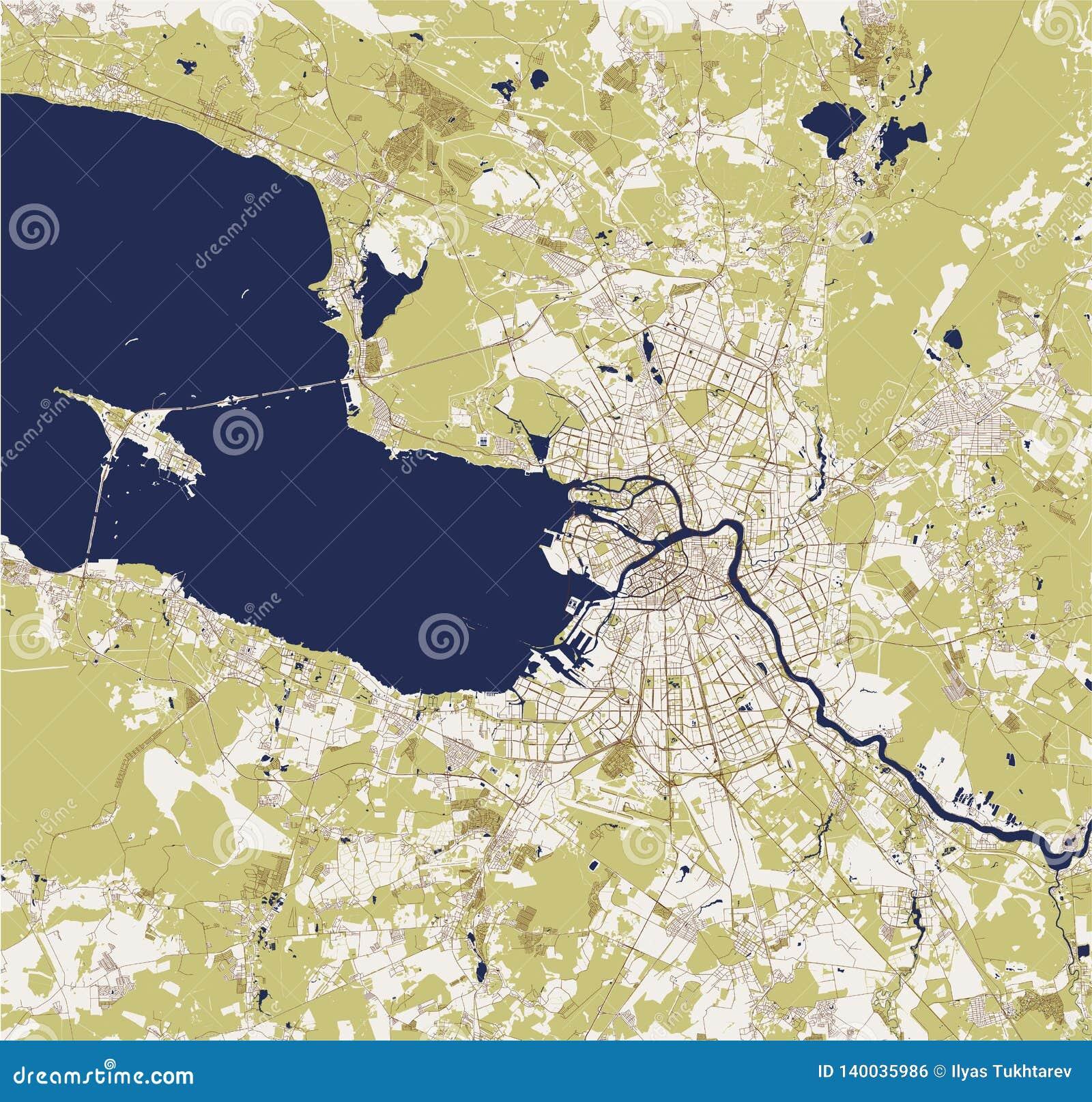 Mapa święty Petersburg, Rosja