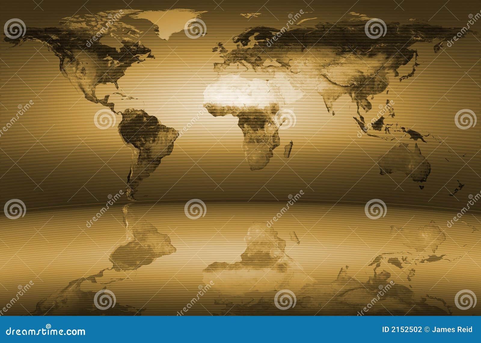 Mapa świata żółty