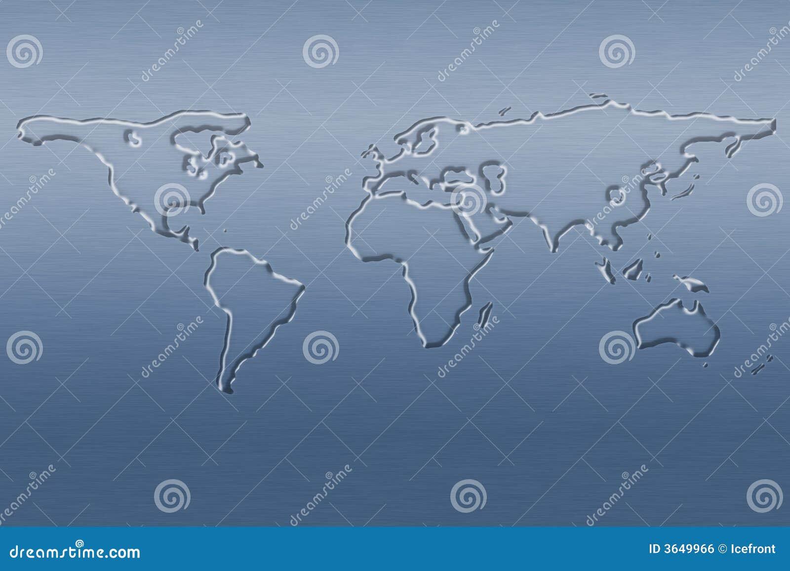 Mapa świata wody