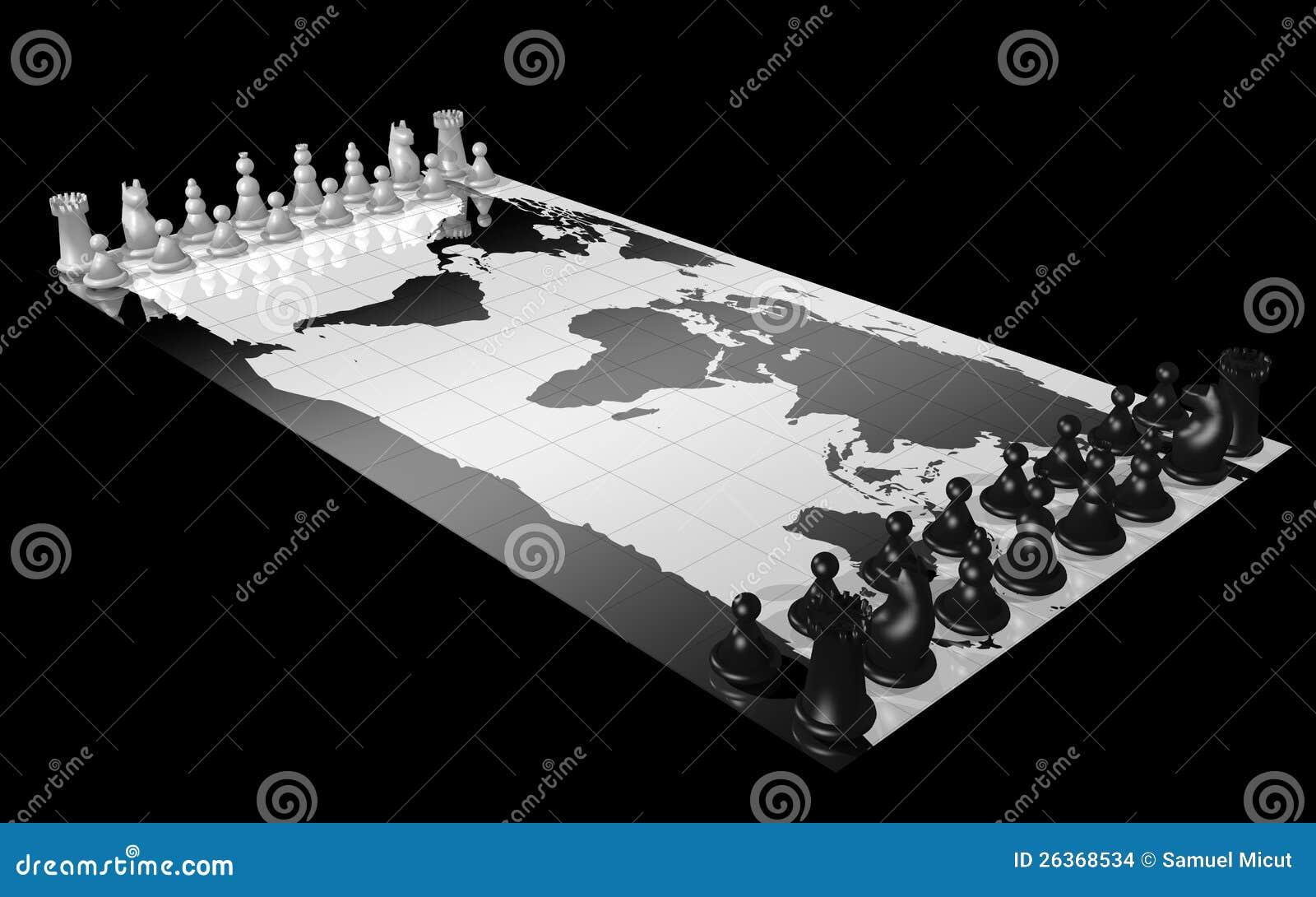Mapa światowy szachy